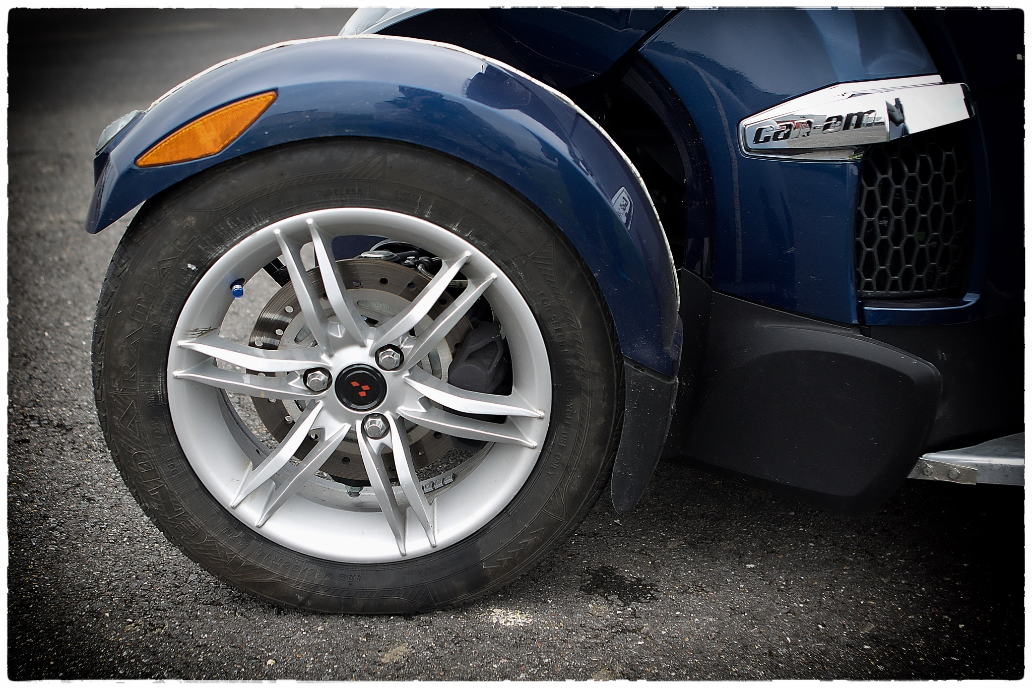 Photo in Vehicle #can am #wheel #close up
