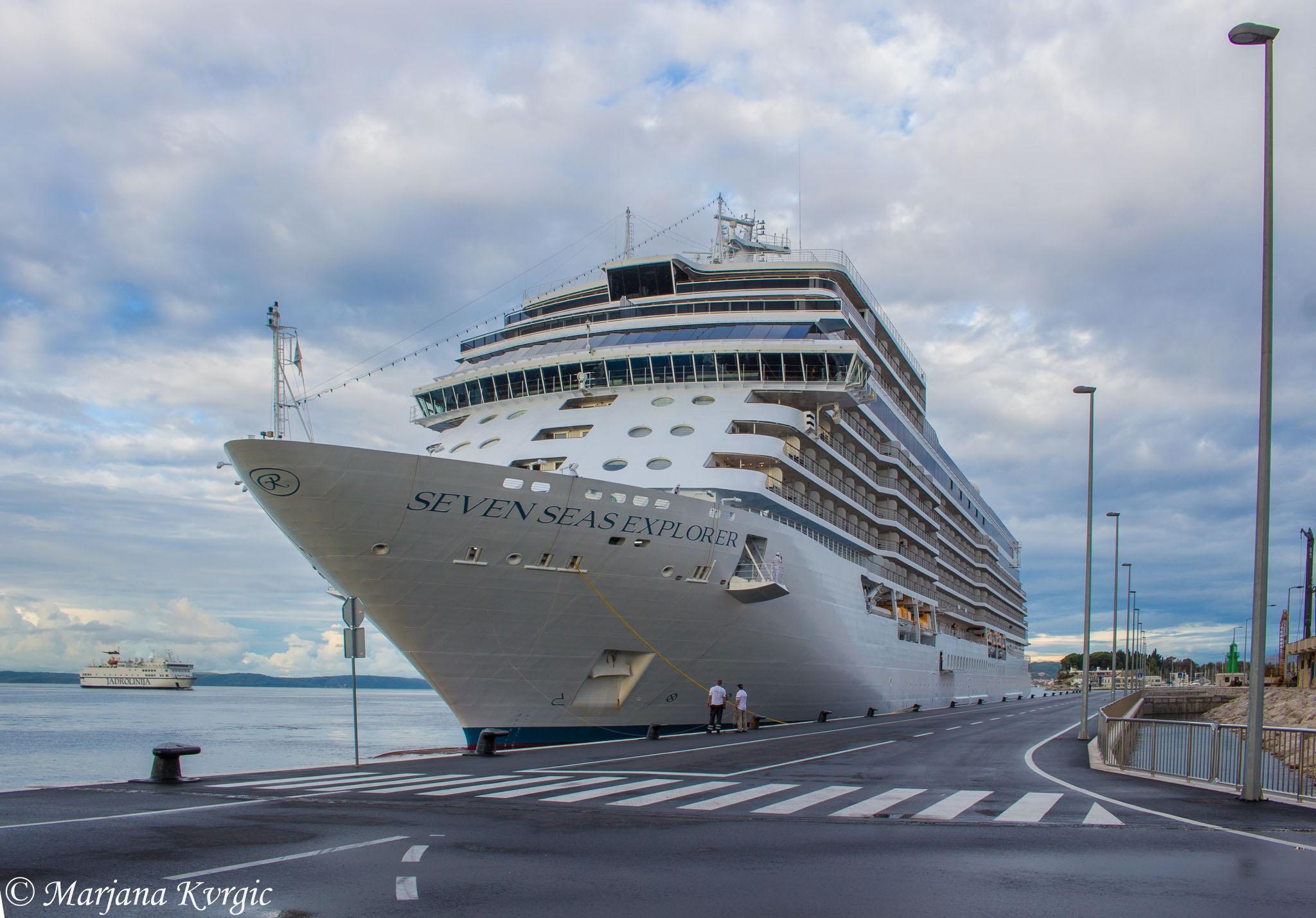 beautiful new cruise ship in Split port by mpincoli