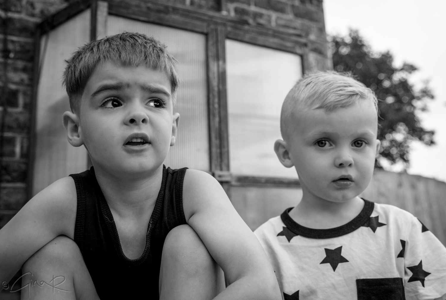 Grandsons having fun <3 by Gina Rayment