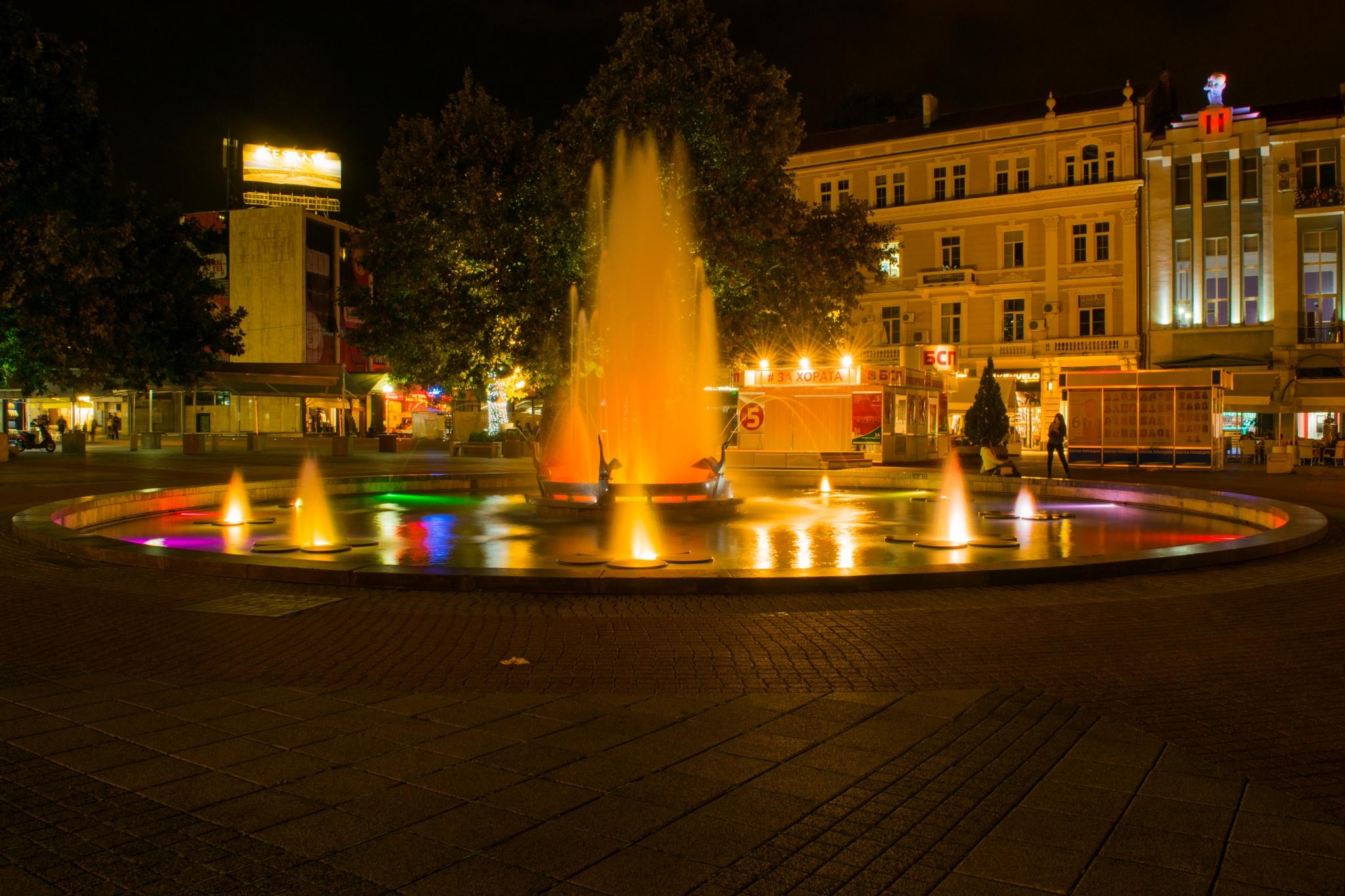 Plovdiv fountain by Zlatko Petrov