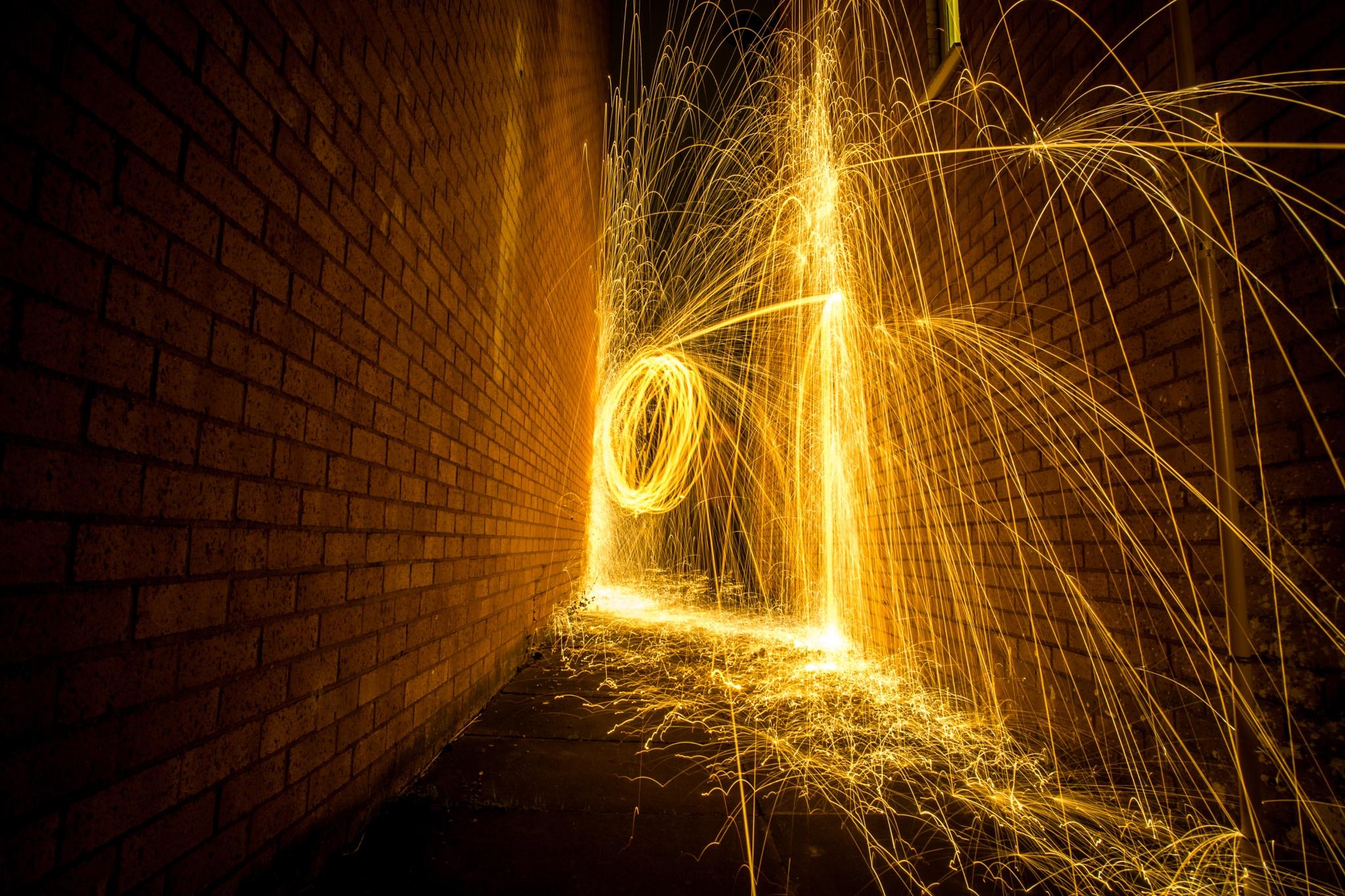 Wire Wool Light Painting  by GadekeCreative