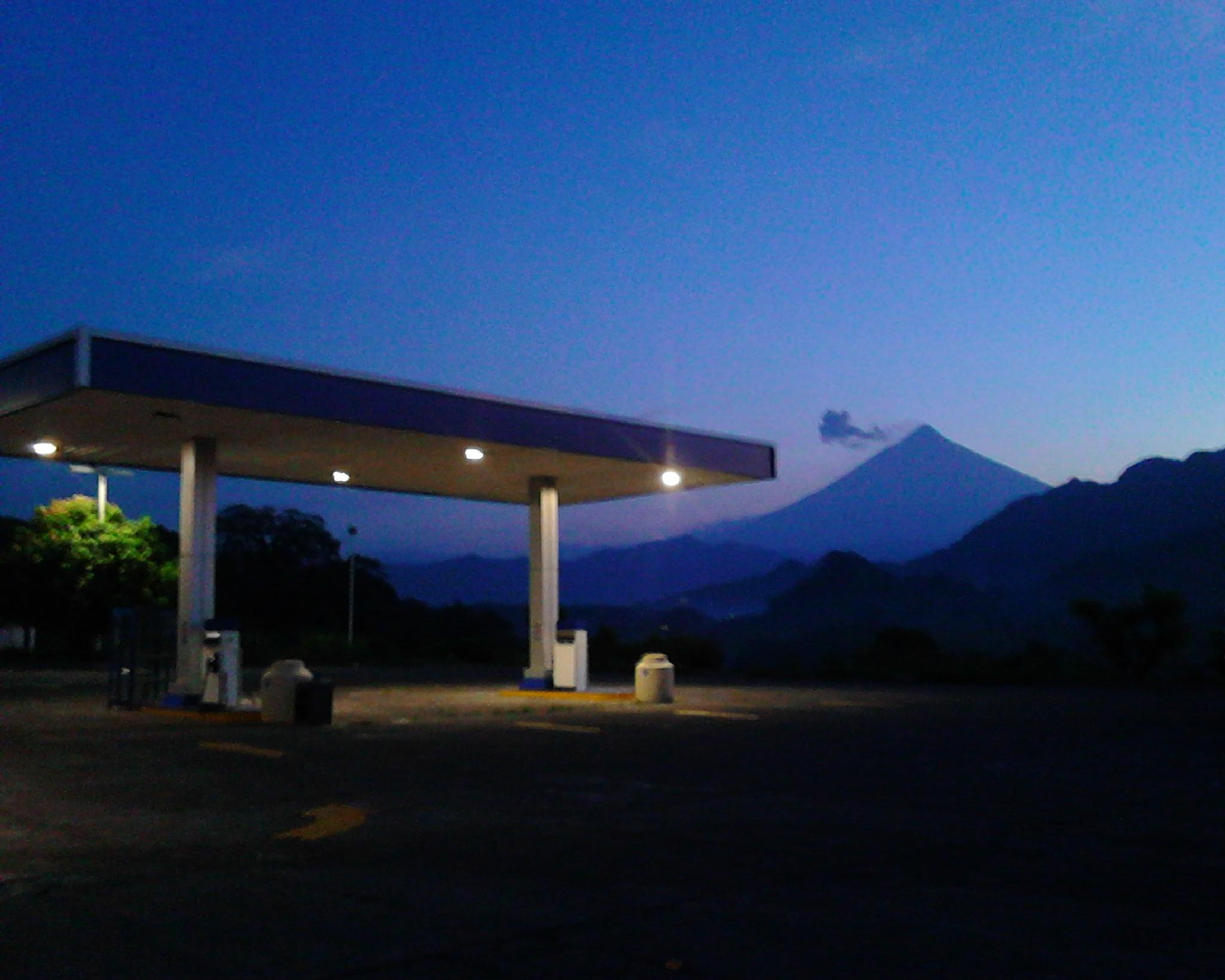 At the Gas Station by Tirsa Jean Mazariegos