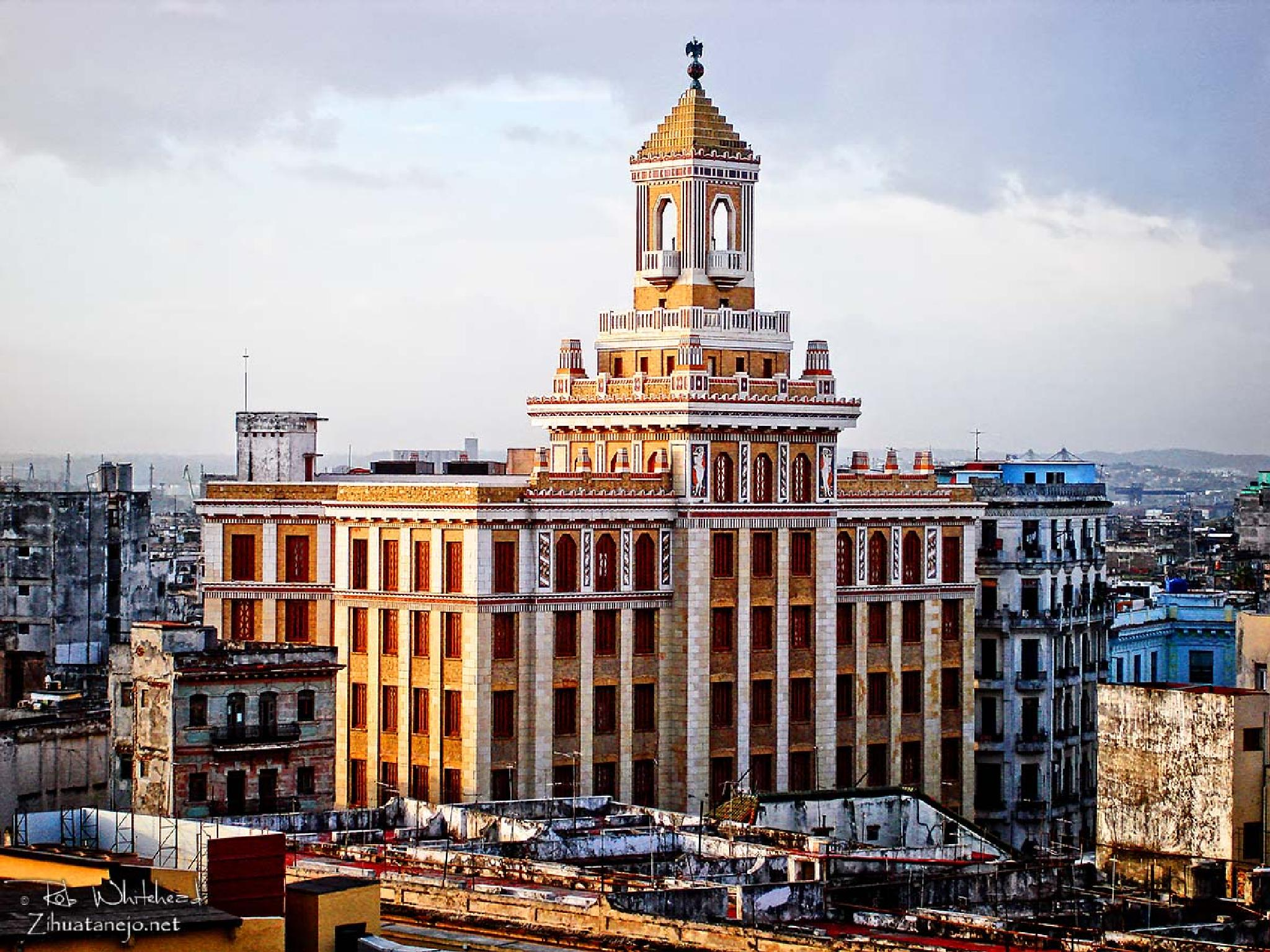Bacardi Building in Old Havana by Rob Whitehead