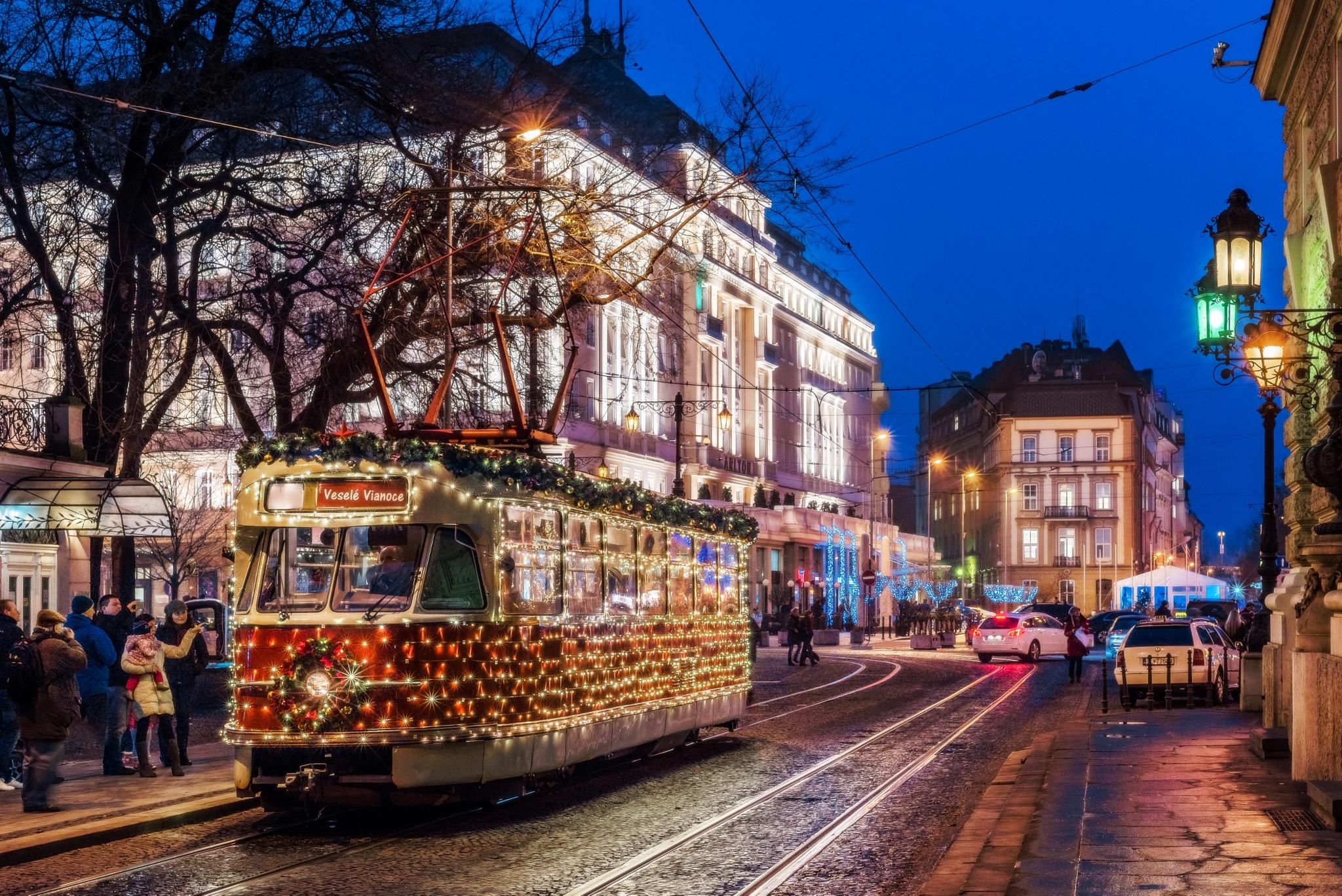 Christmas tram in Bratislava by sue nagyova