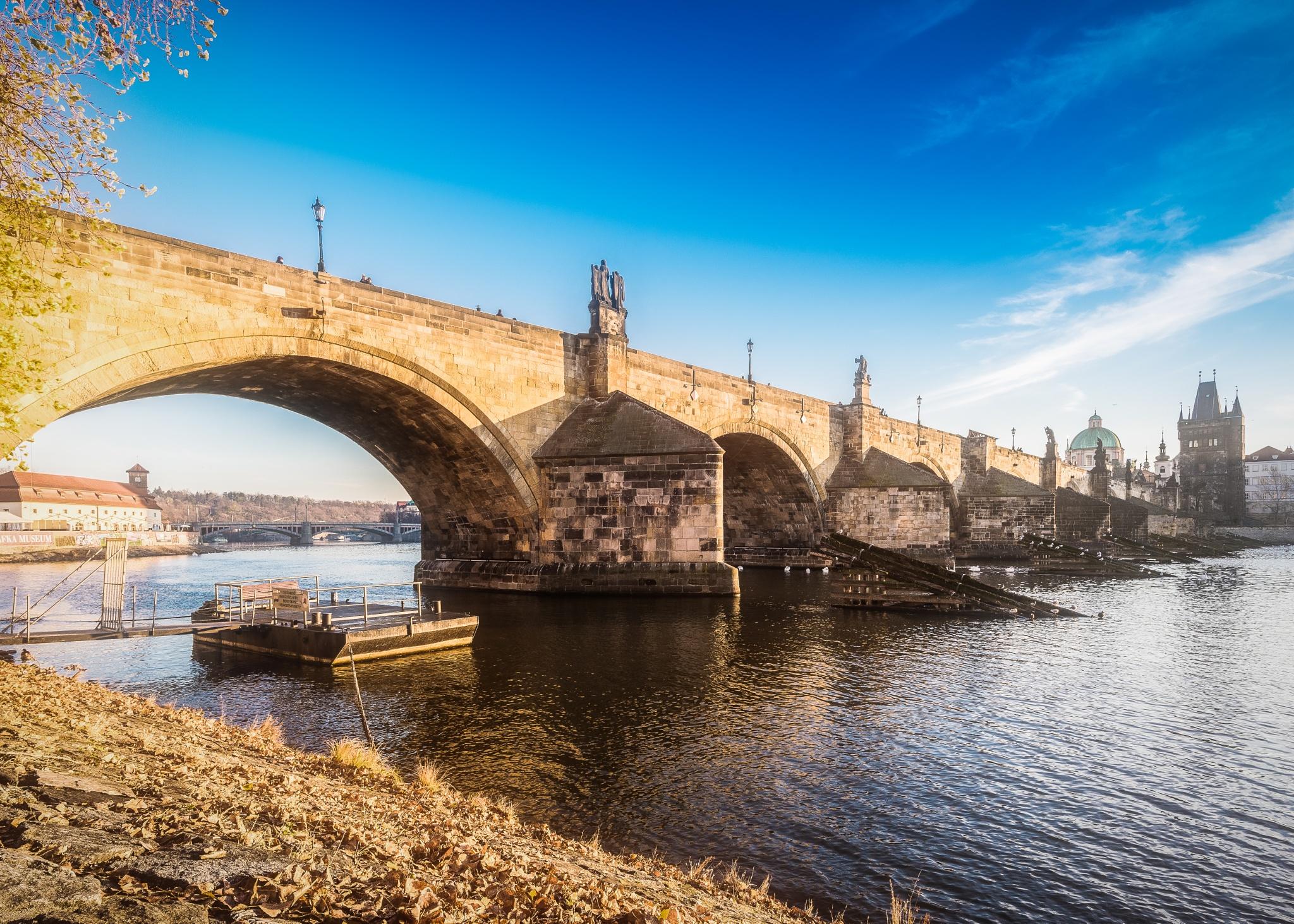 Morning at Charles bridge by sue nagyova