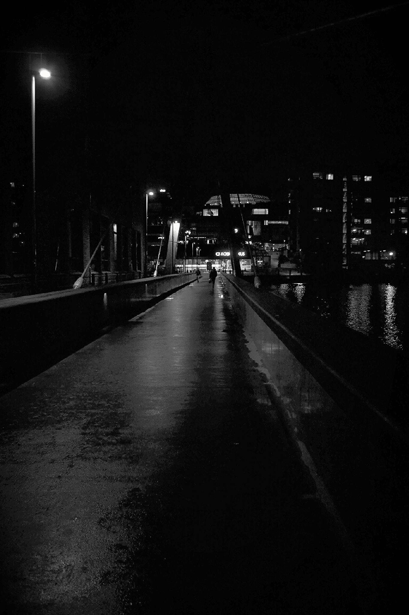 Night  in Tampere by Timo V