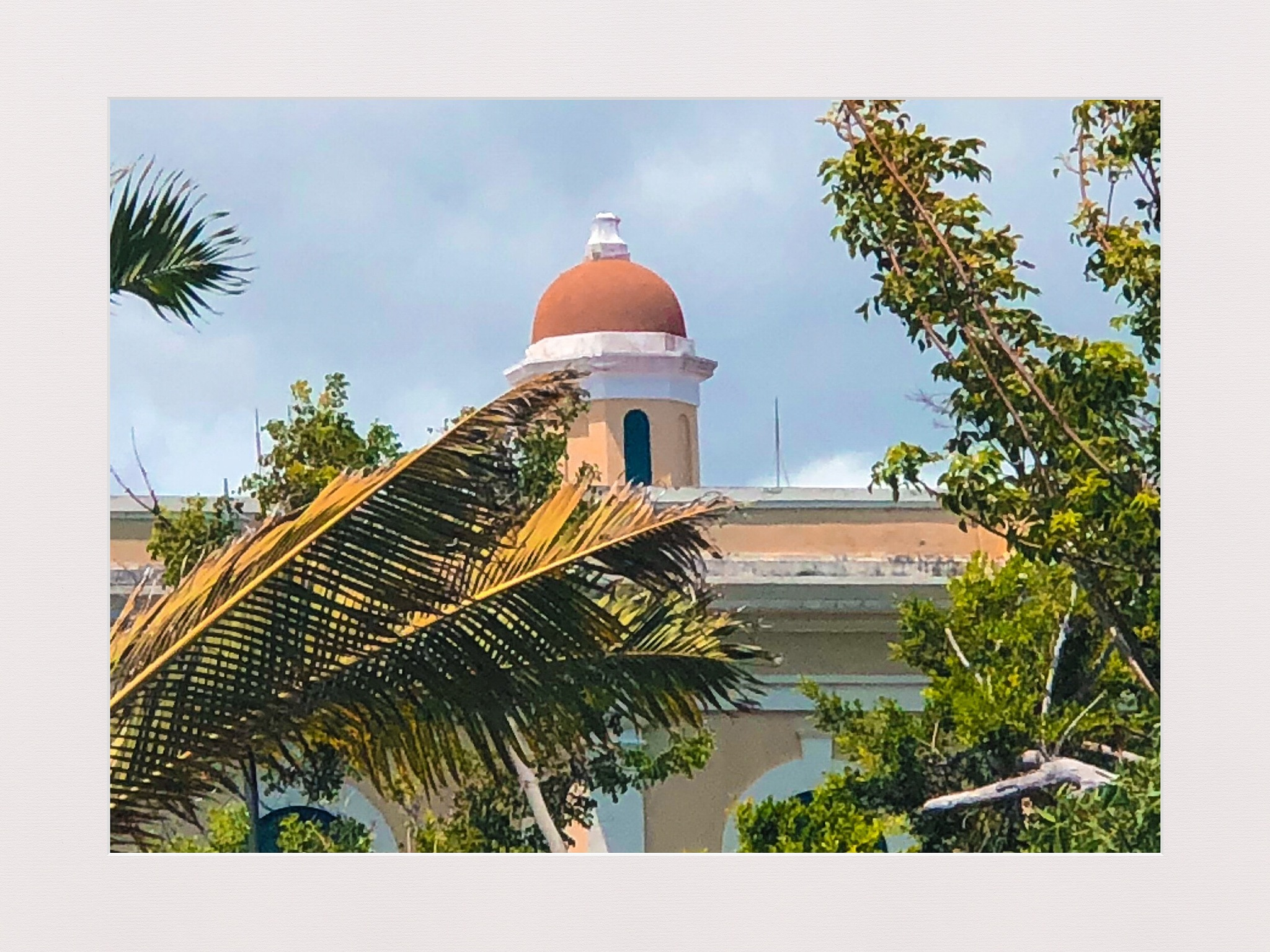 Dome of National Archives Building in Old San Juan. by castanerjuan
