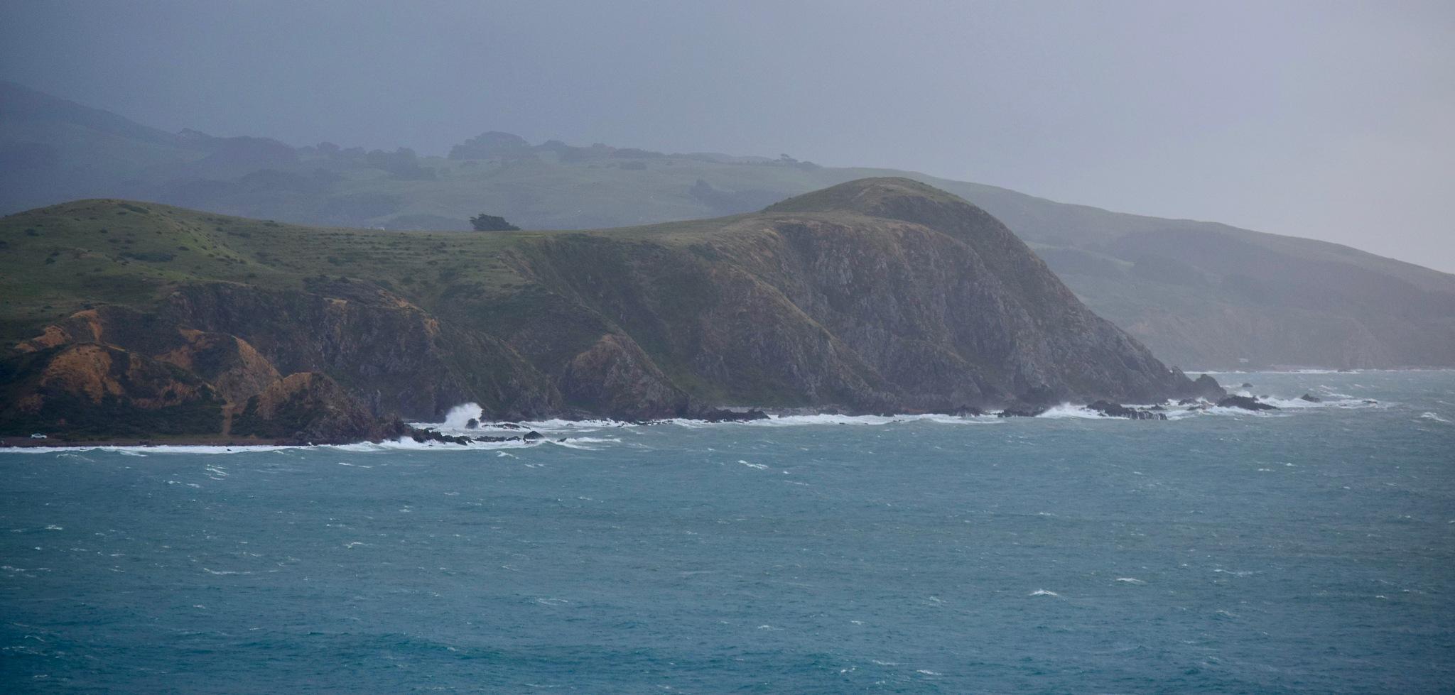 Stormy coastline by johndflatt