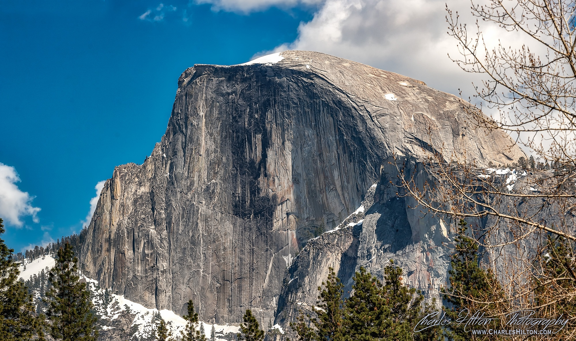 The Face of Halfdome Detail by CharlesHilton