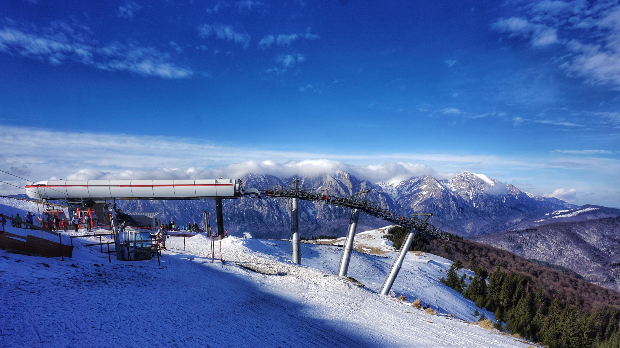 On top of the ski slope by Costin0509