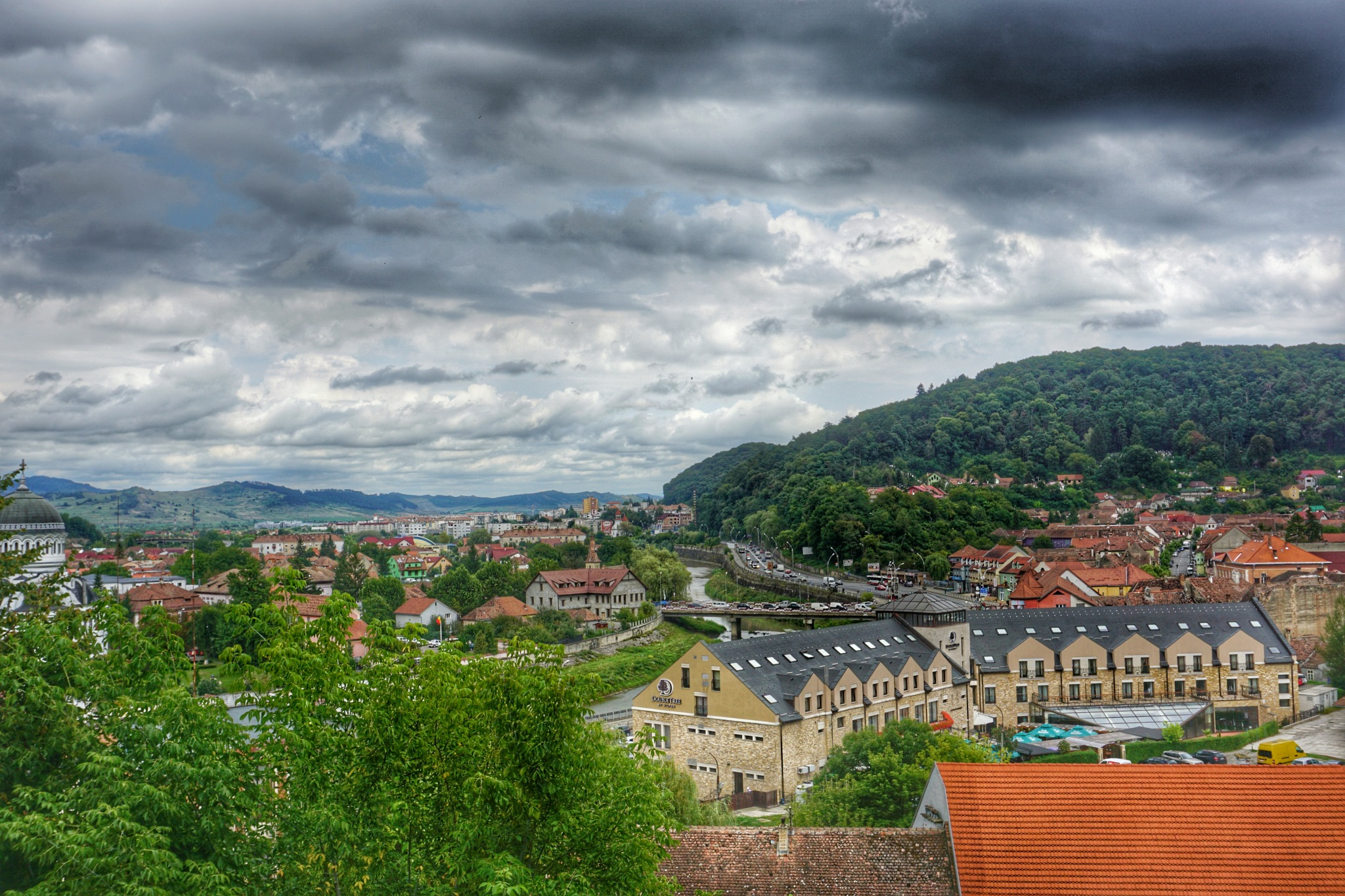 Sighisoara from above by Costin0509