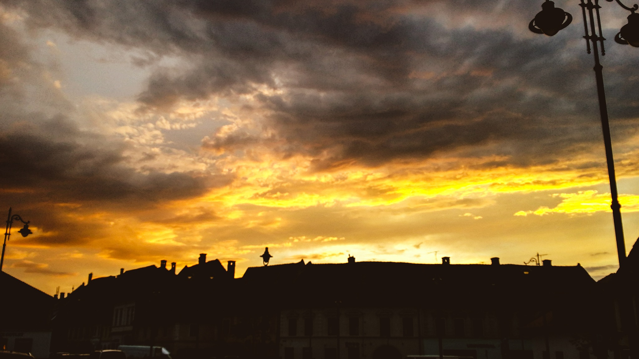Sunset over Sibiu by Costin0509