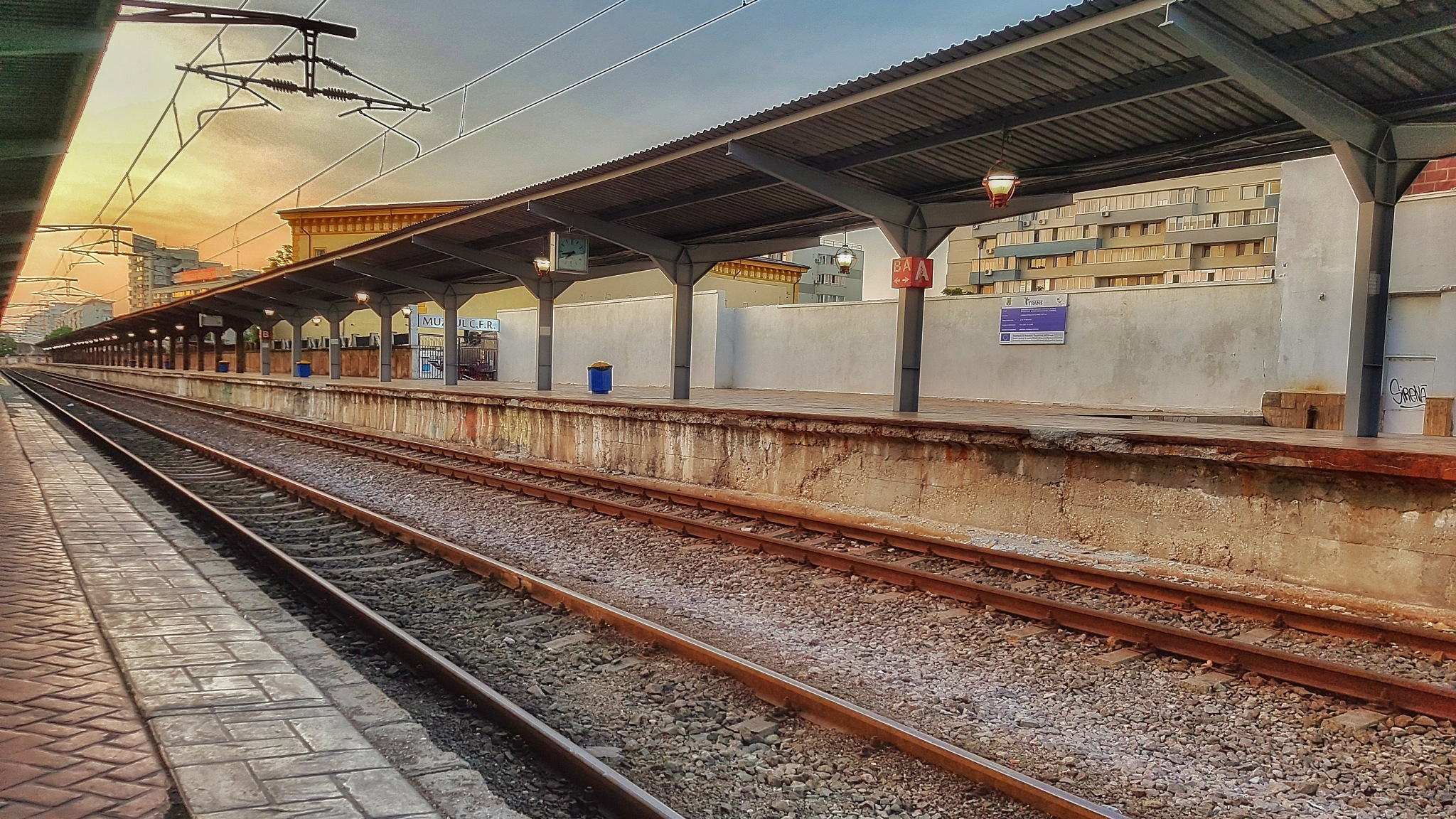 Railway into the sunset by Costin0509