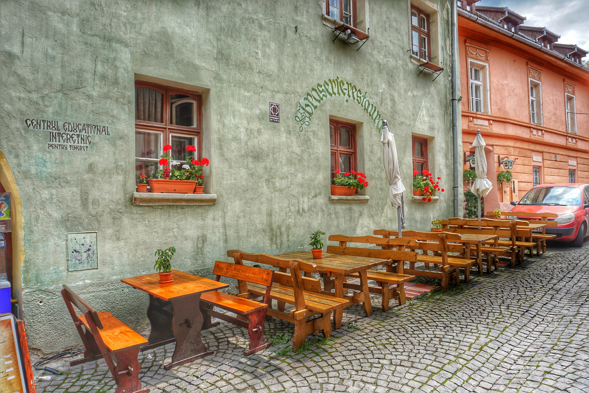 Outside restaurant by Costin0509
