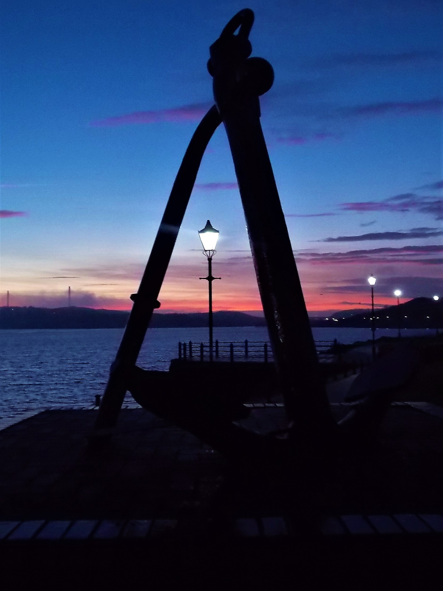 """Streetlamps and Anchor"" by Thania Wehmeyer"