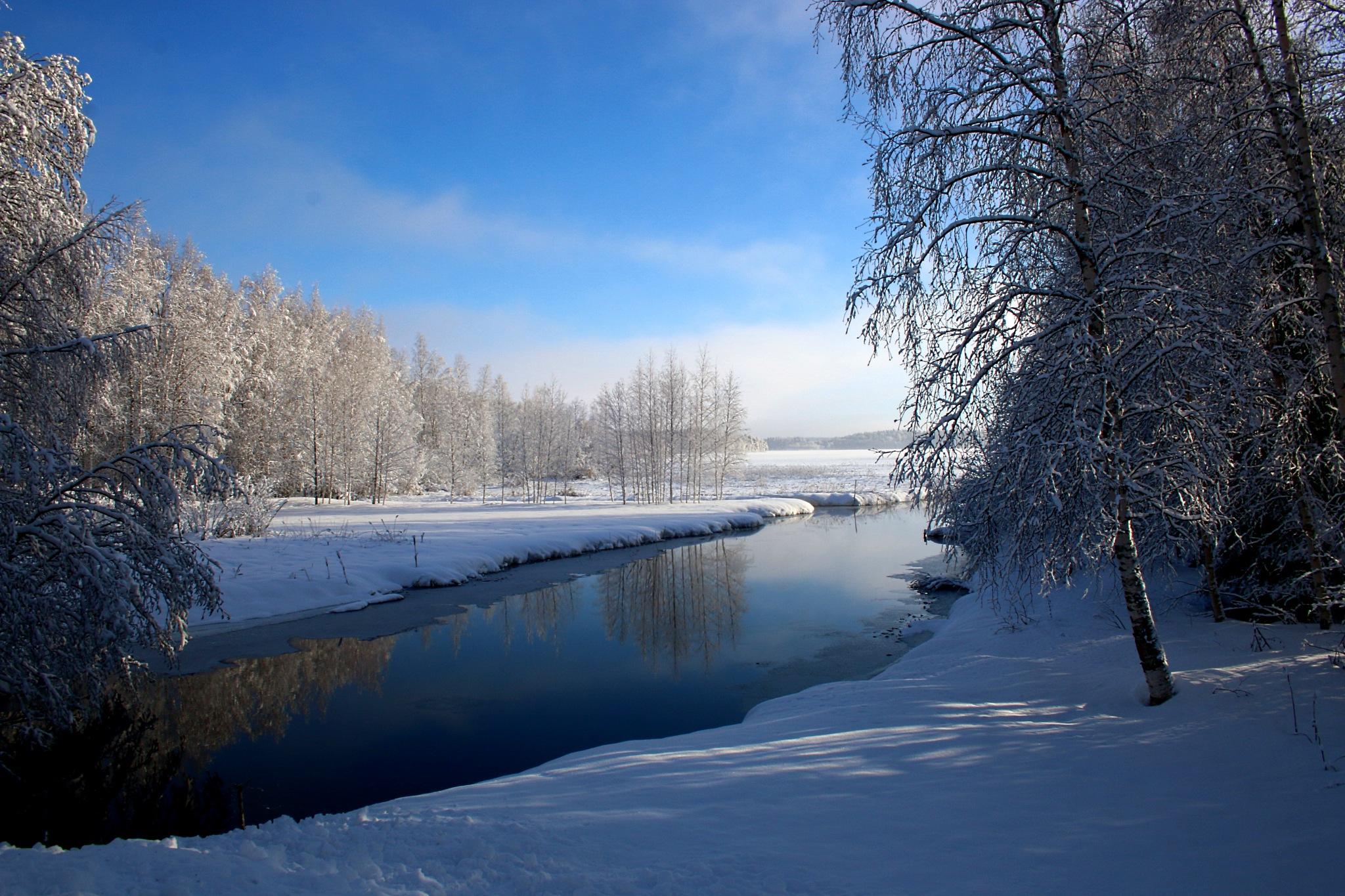 Joensuu river Finland by antsatykkylainen