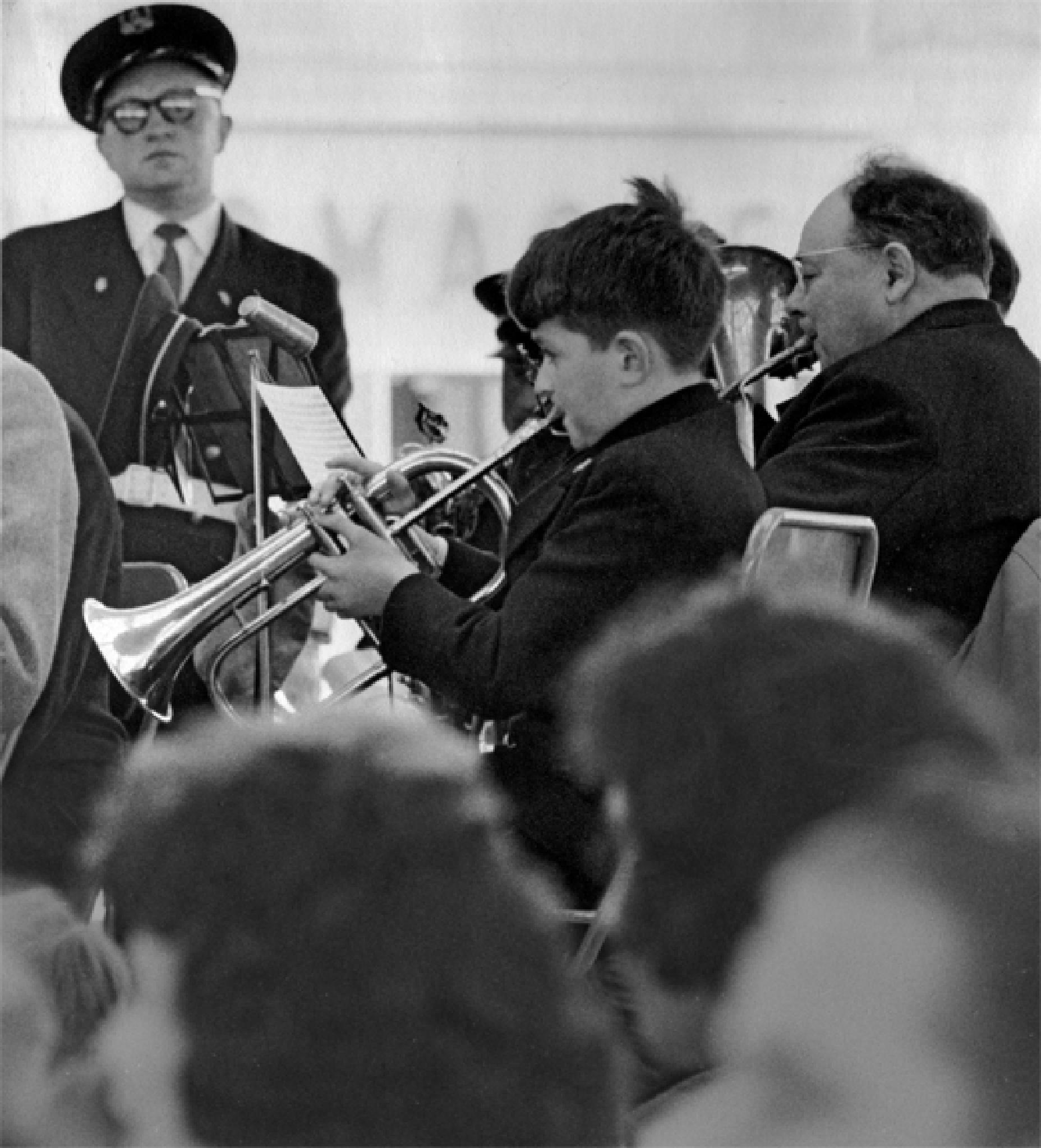 Trumpet boy by Art Resnick