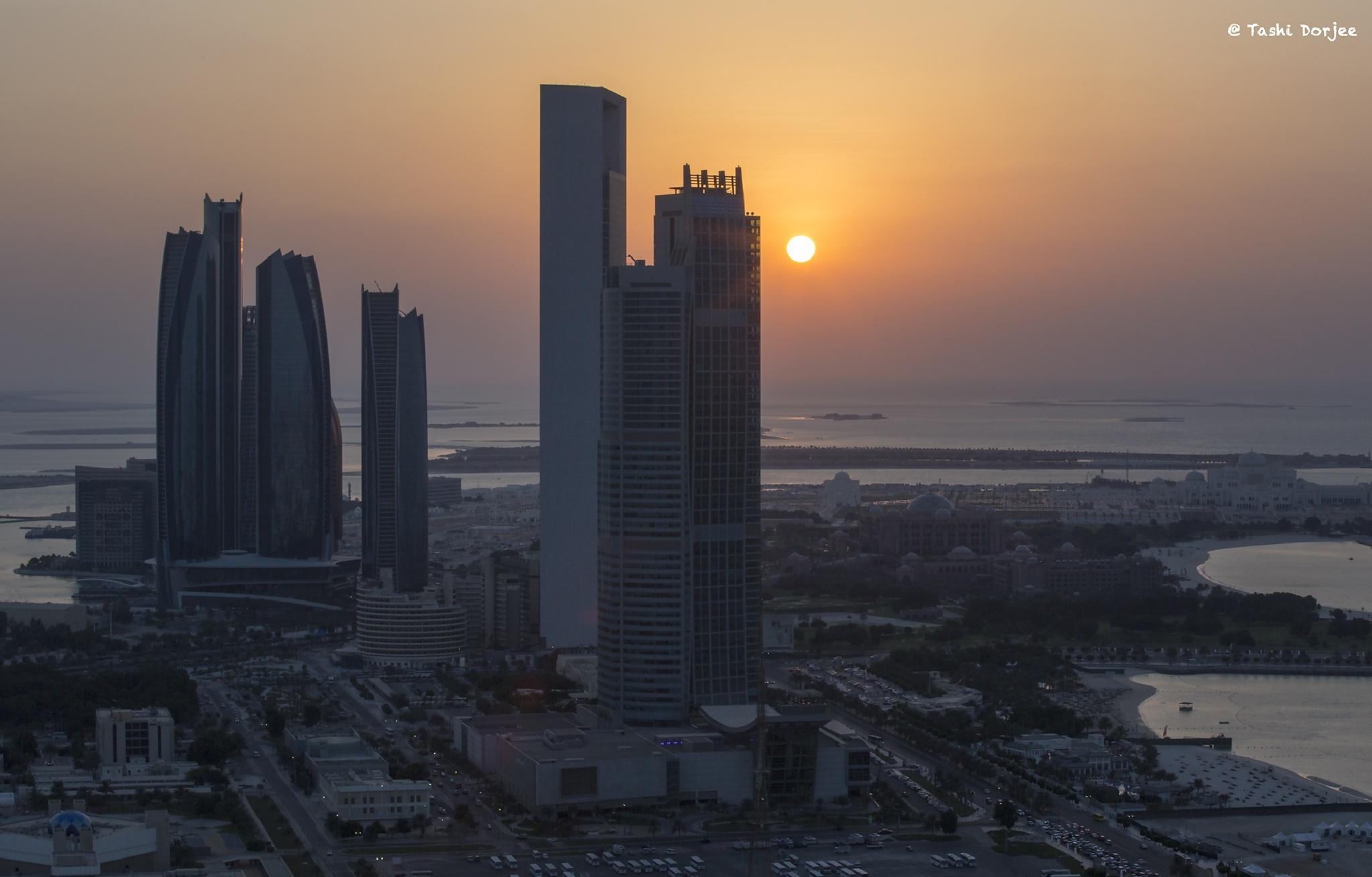 Sunset Abu Dhabi by Tibetravel Photography