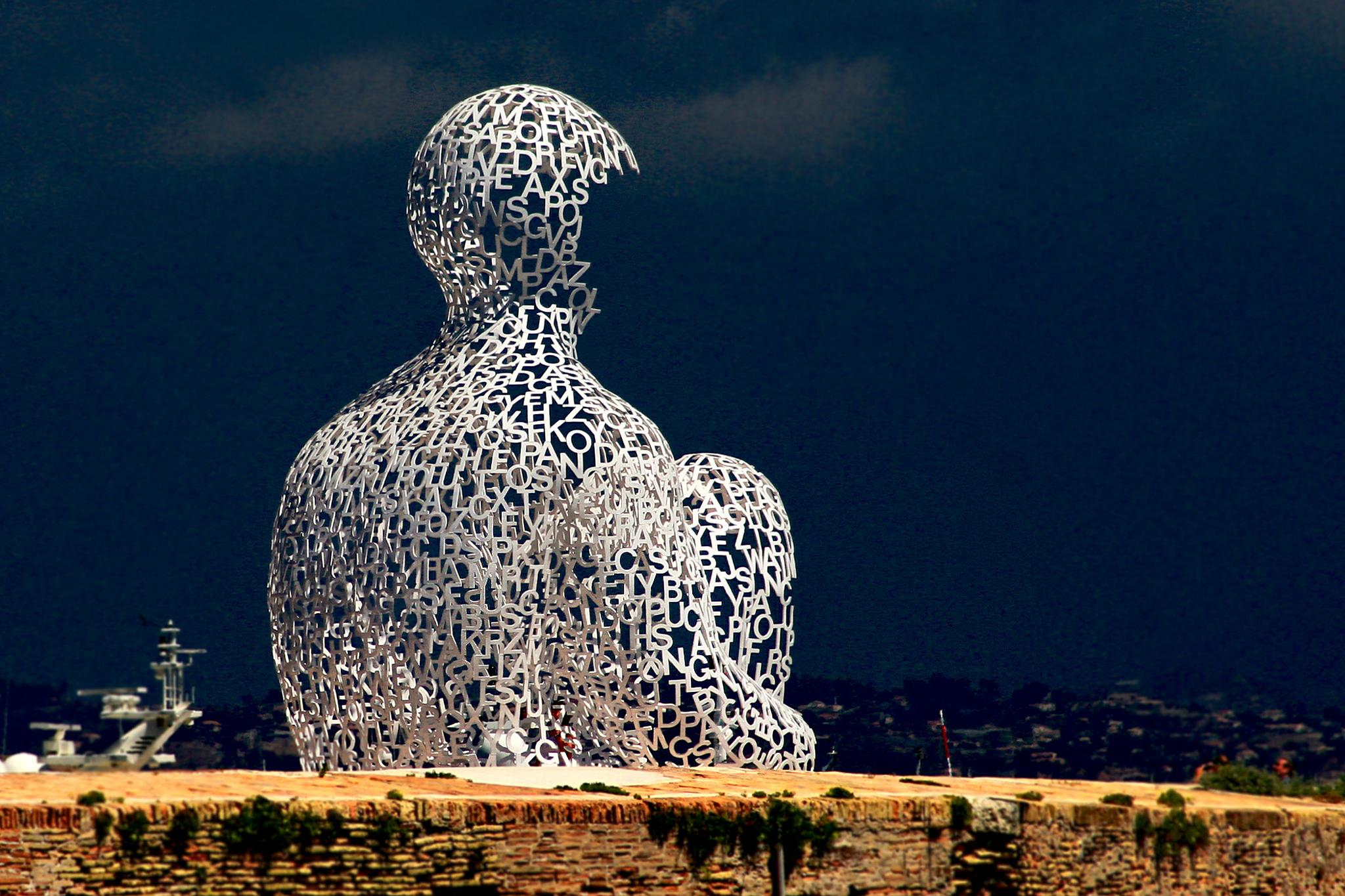 """Nomade"" by Jaume Plensa by regzech"