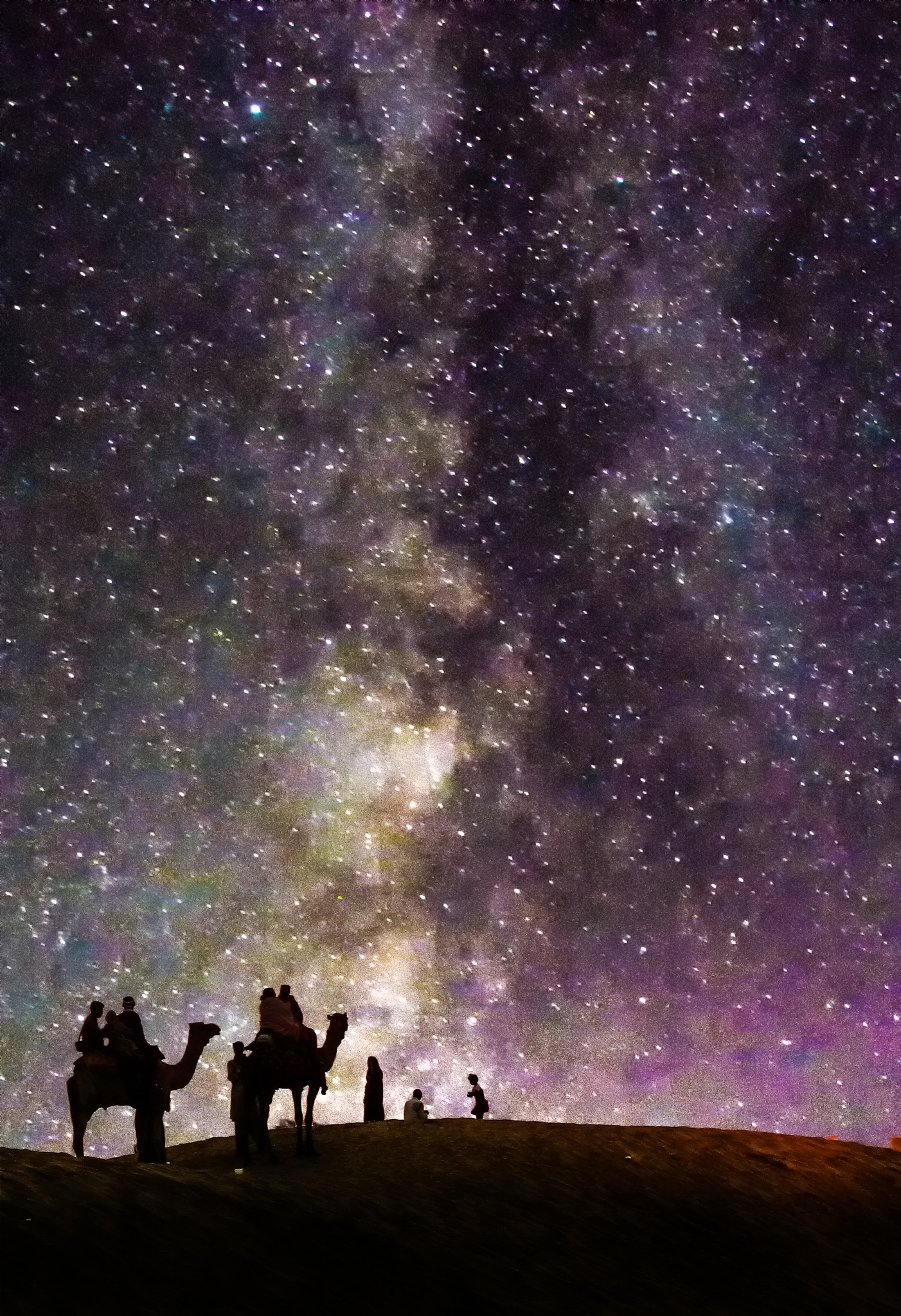 riding into stars by photography by a rookie