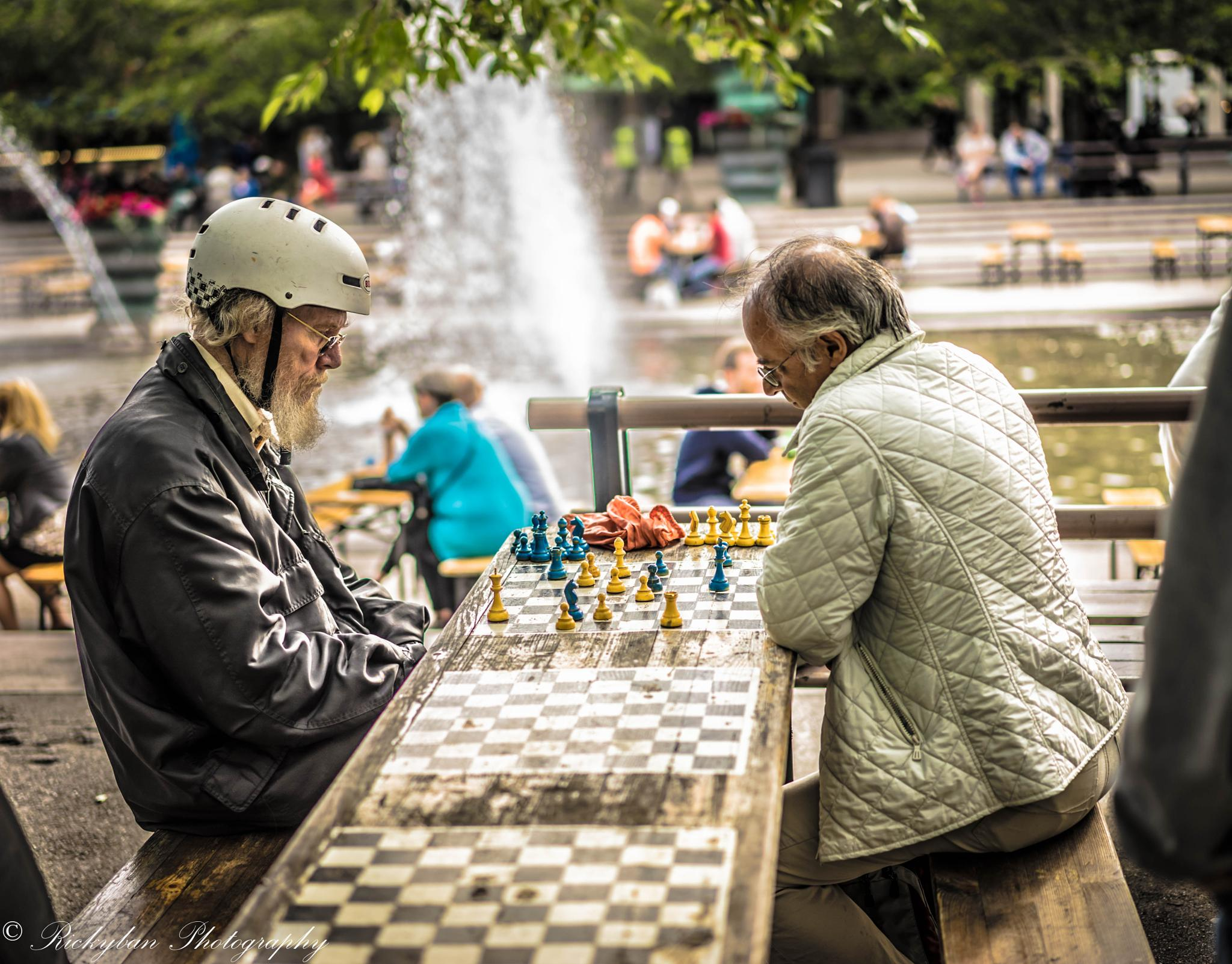 Photo in Street Photography #chess #playing #stockholm #sweden #people