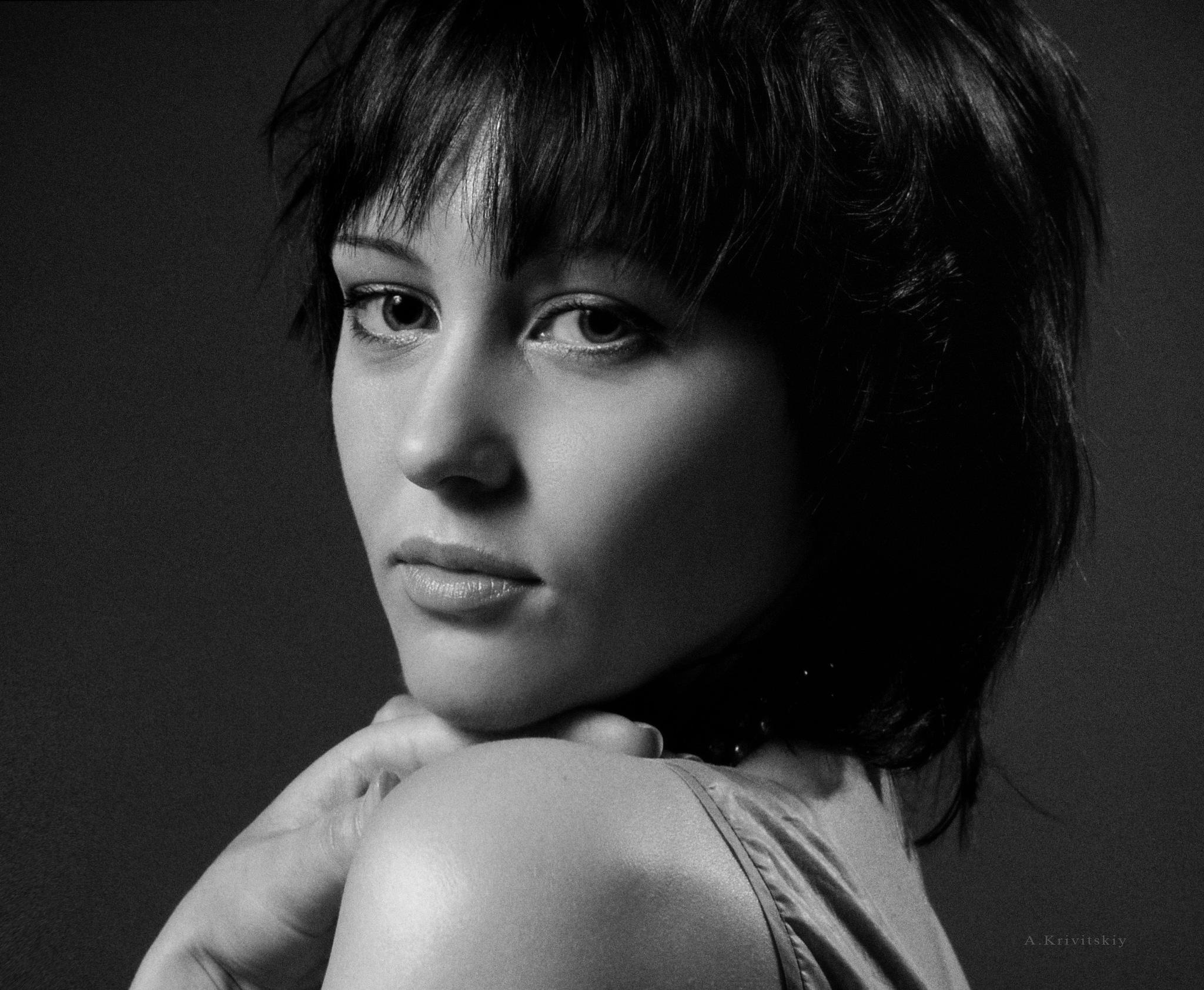 Portrait. Black and white glamor. Studio A. Krivitsky. by krivitskiy
