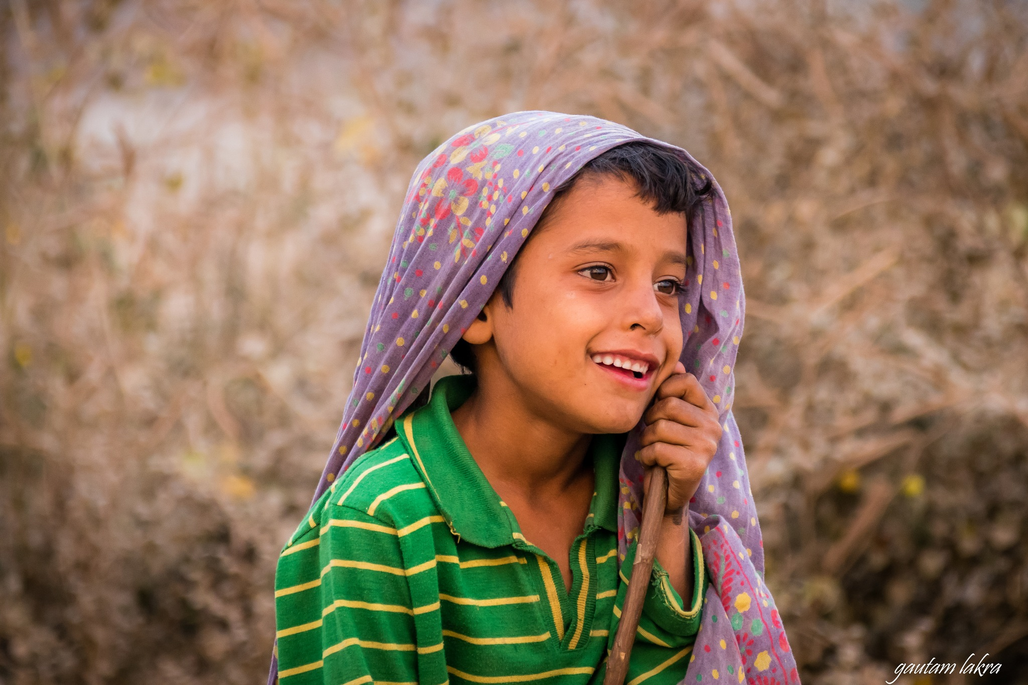 Portrait of a young sheep herder ! by gautamlakra