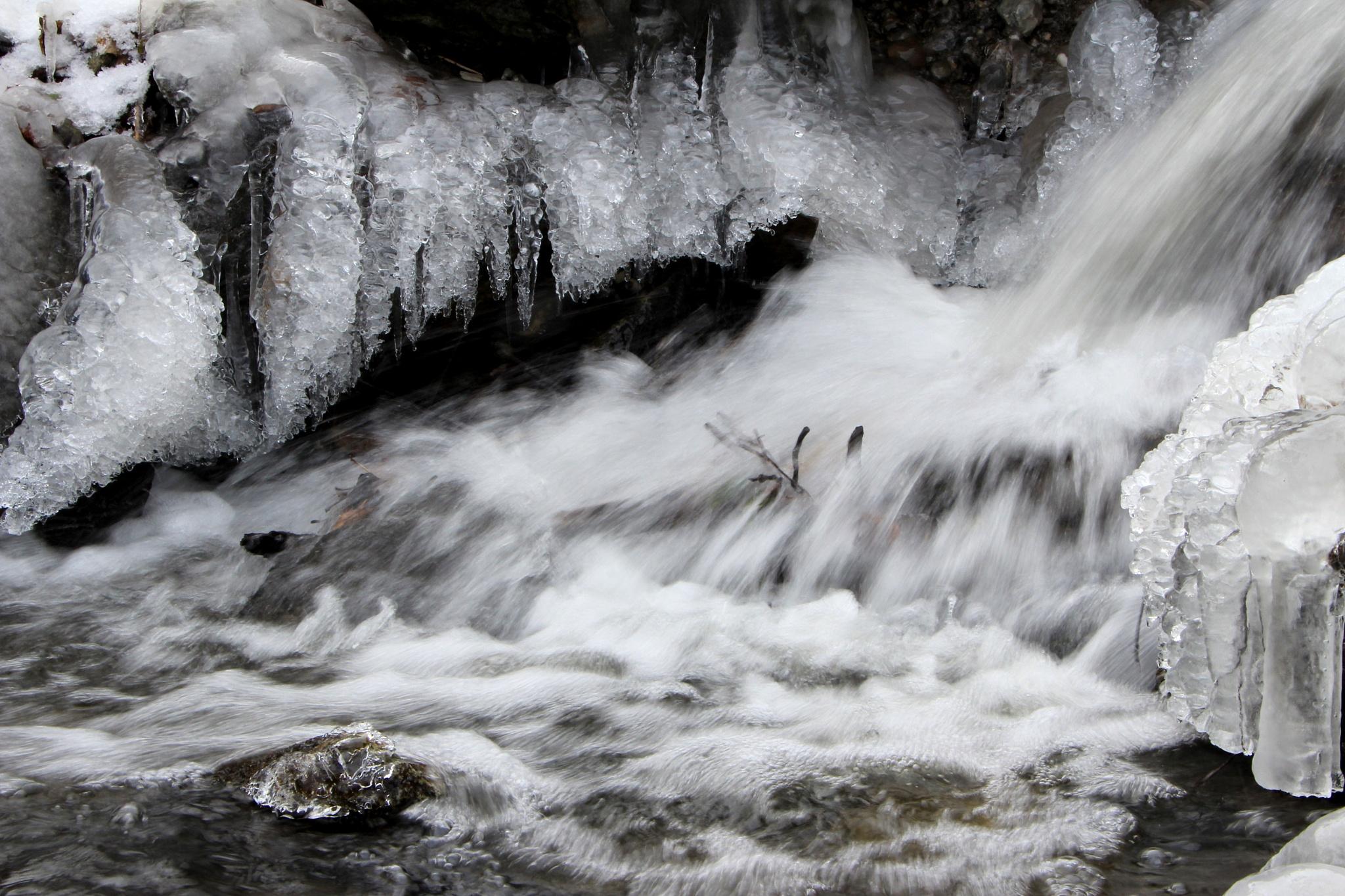Winter River Flow  by jodelabruere