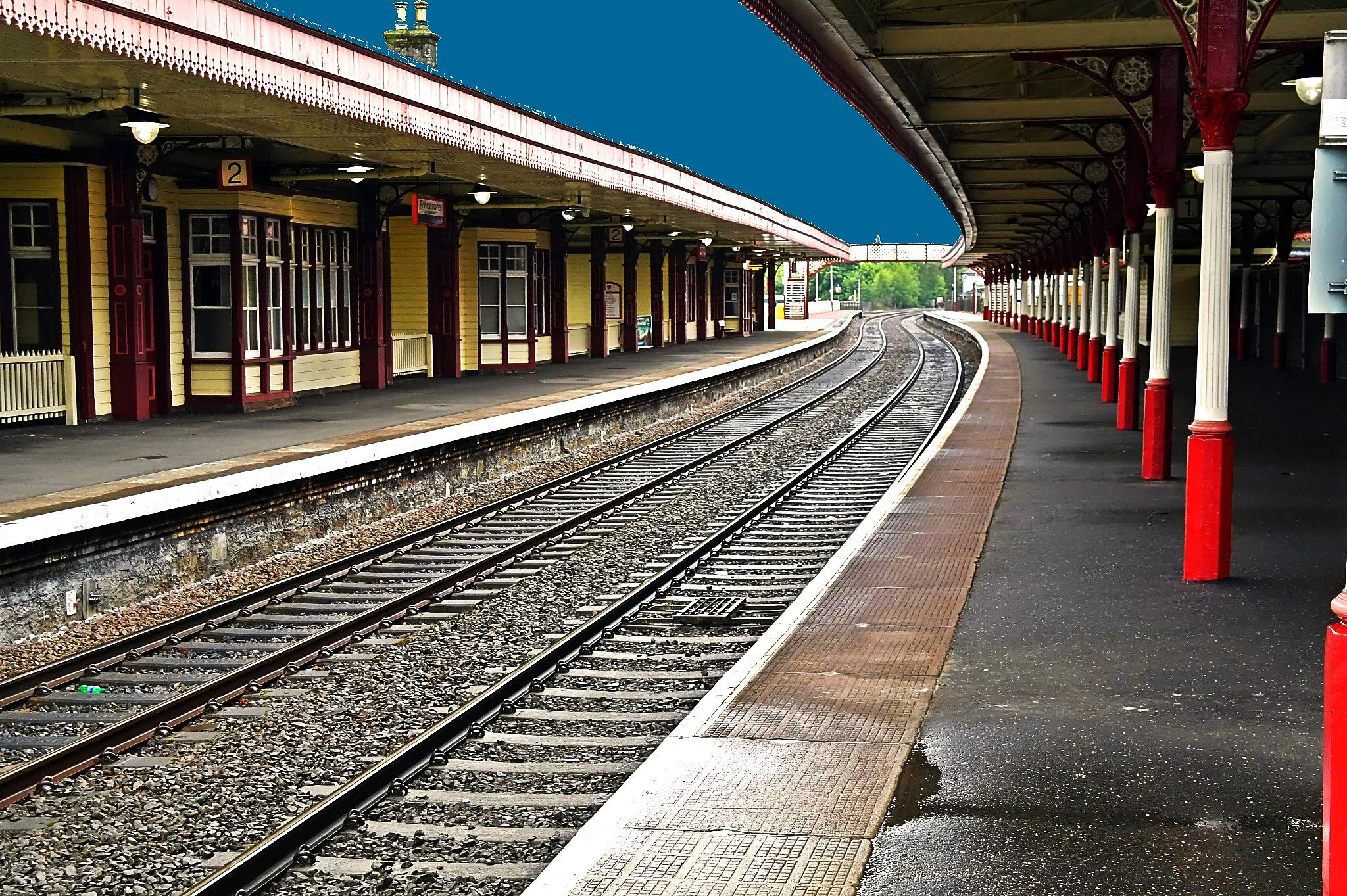 Aviemore train station Scotland by georgeporteous