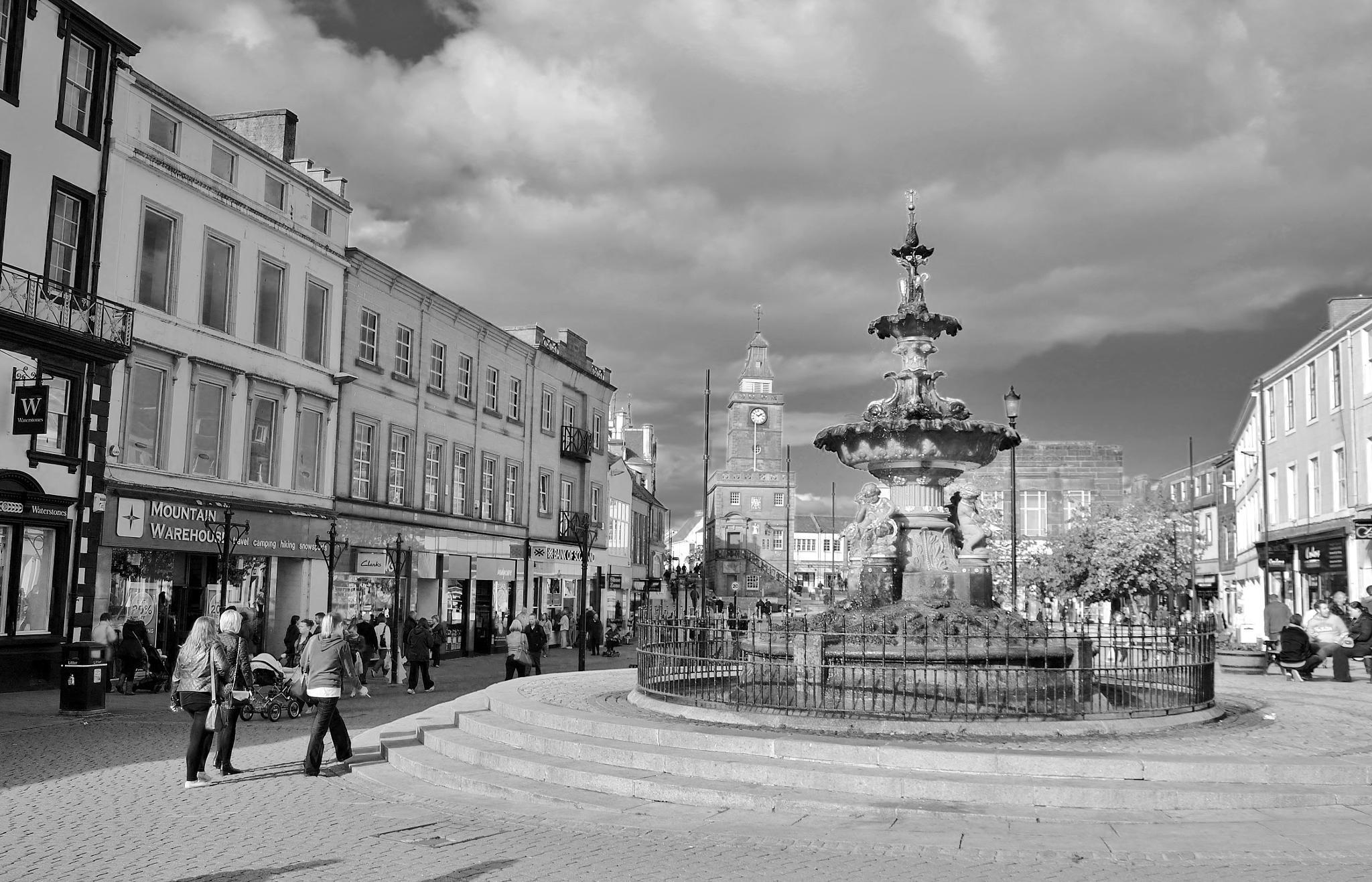 Dumfries town centre, Scotland by georgeporteous