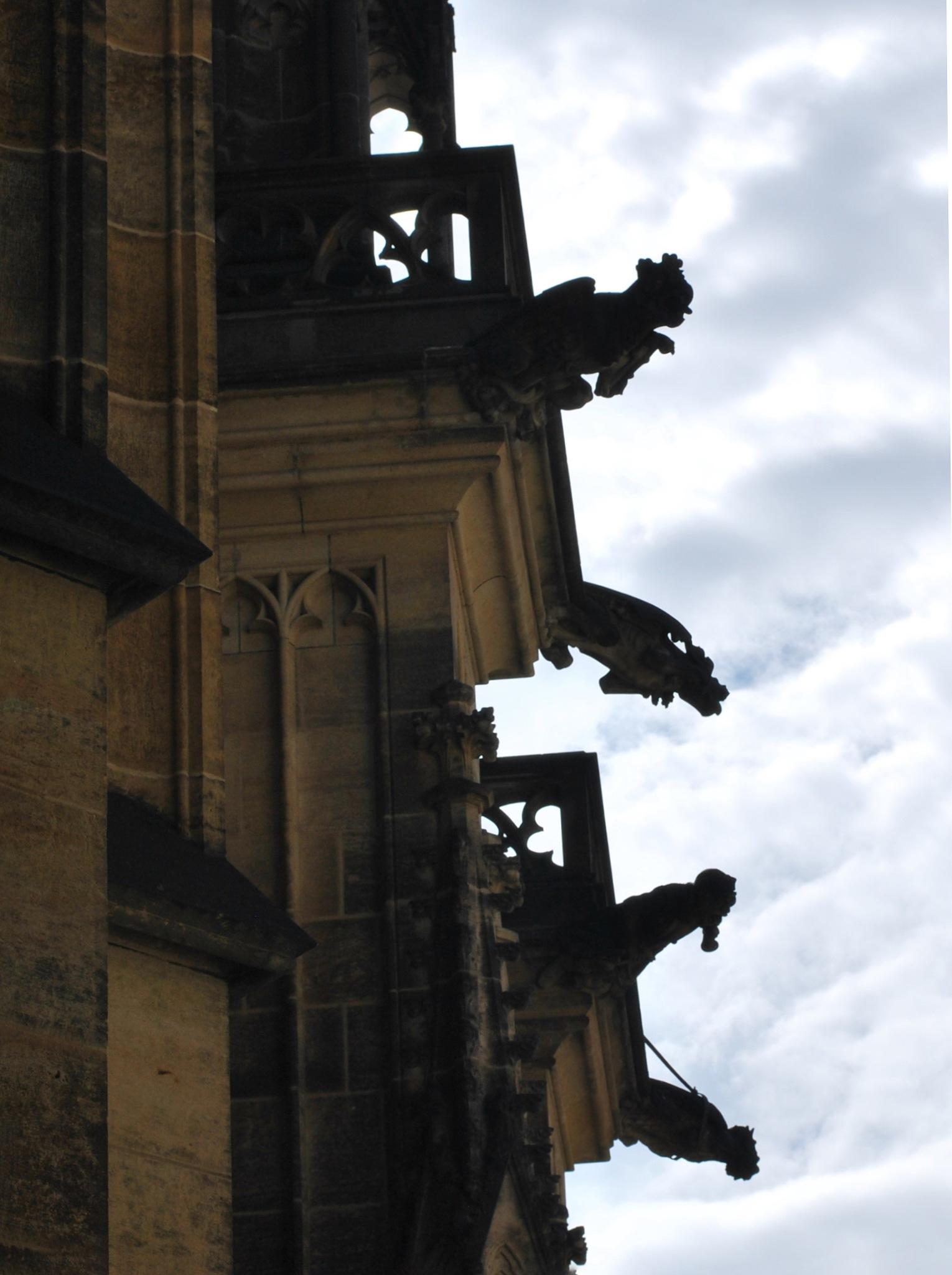 //Gargoyles in Prague// by Anda Cadariu