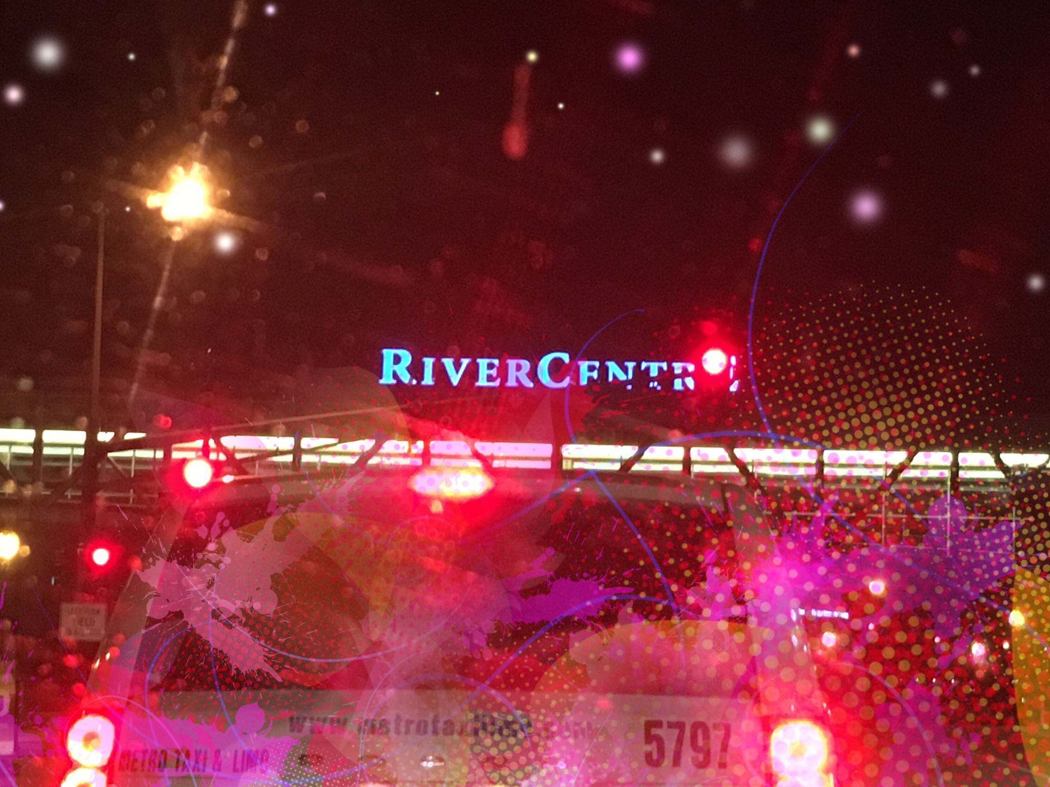 Night Driving: River Center by ginalouisenelson