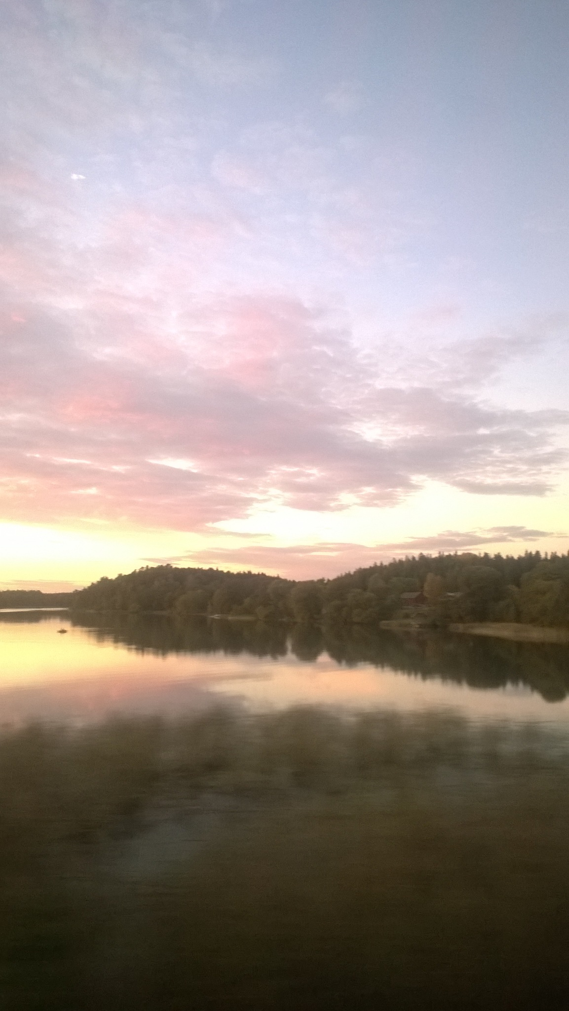 Swedish lake view from train by C@TY€$