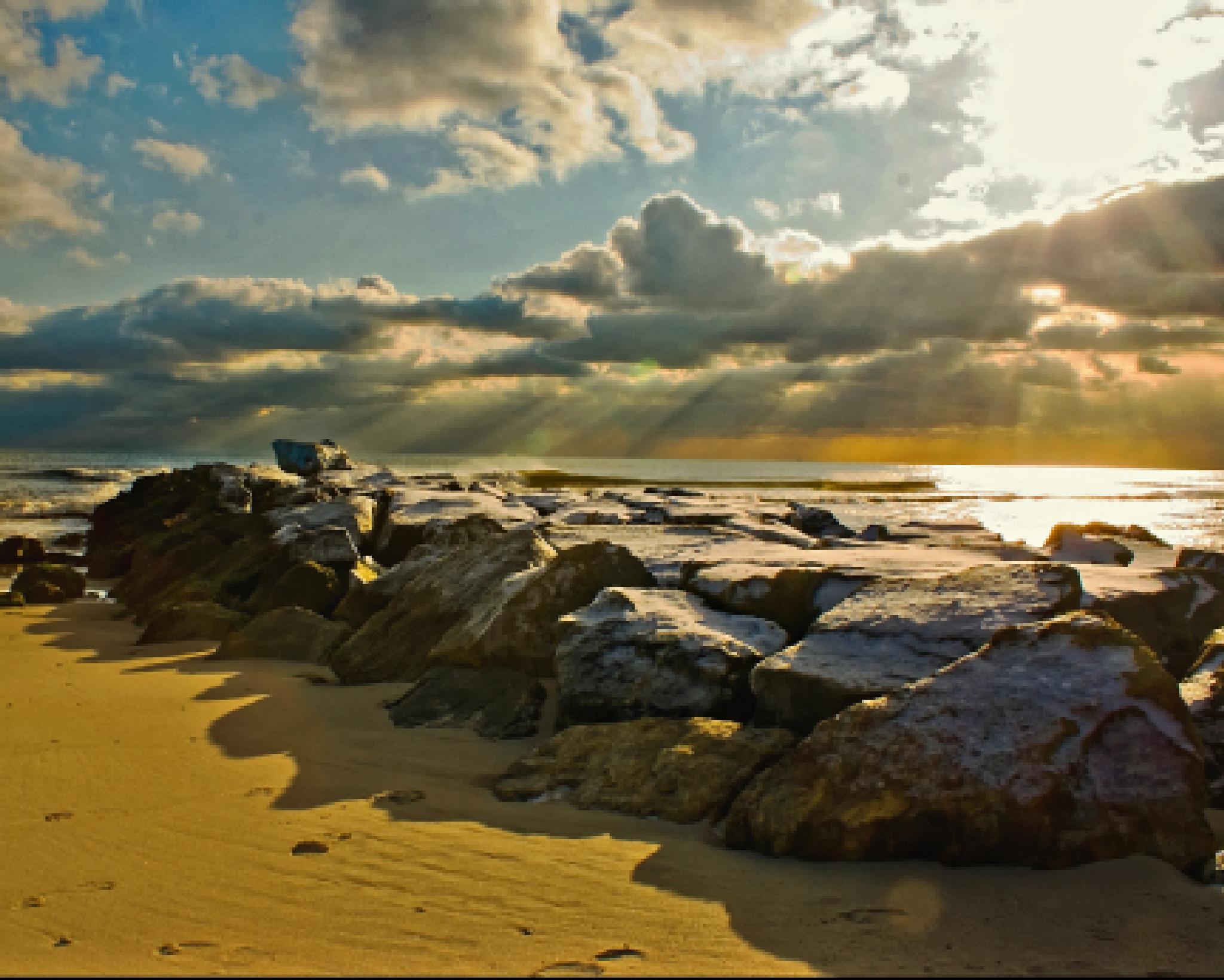 Long Beach,NY sunset by Scottelb