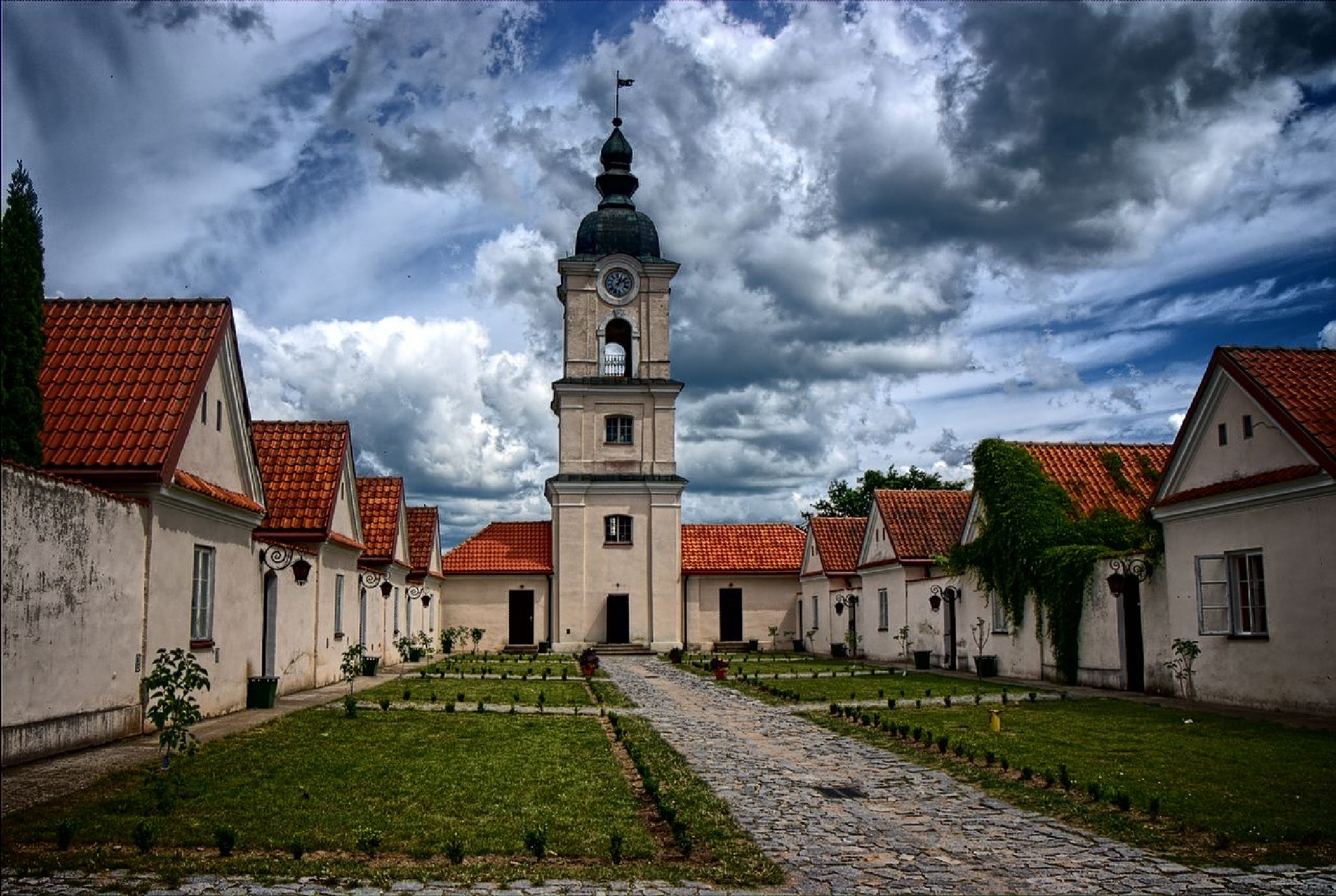 The monastery cloister. Wigry. Poland by Krzysztof Mierzejewski