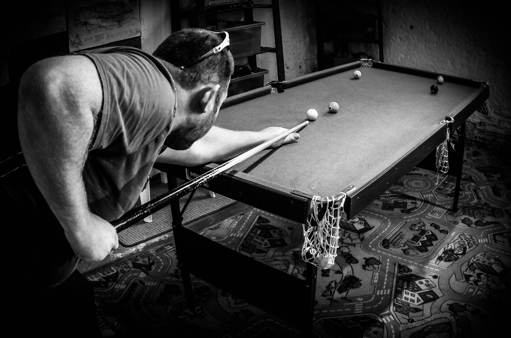 a game of pool by Gemma Sizer