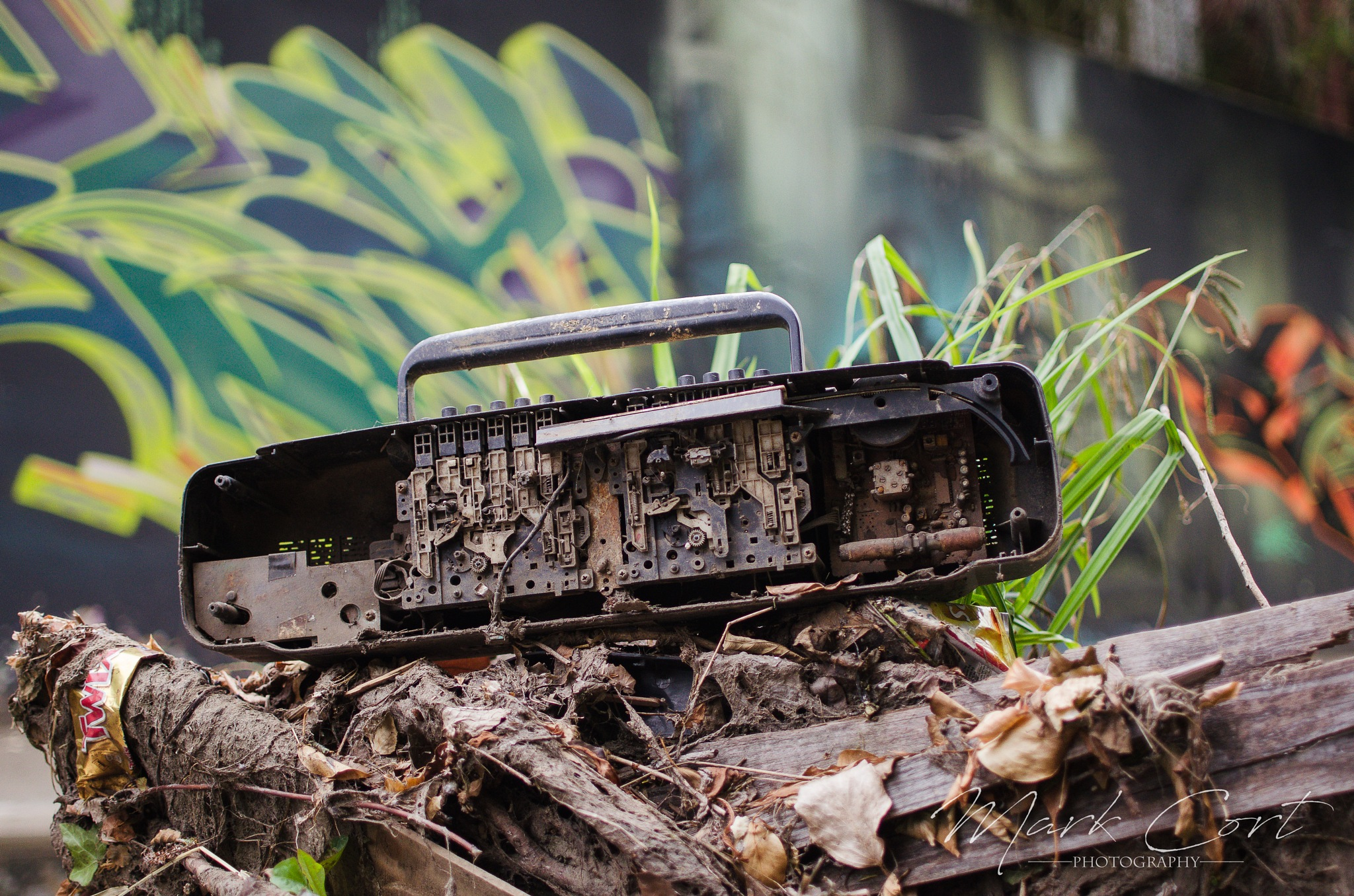 Abandoned Boom Box by Mark Cort