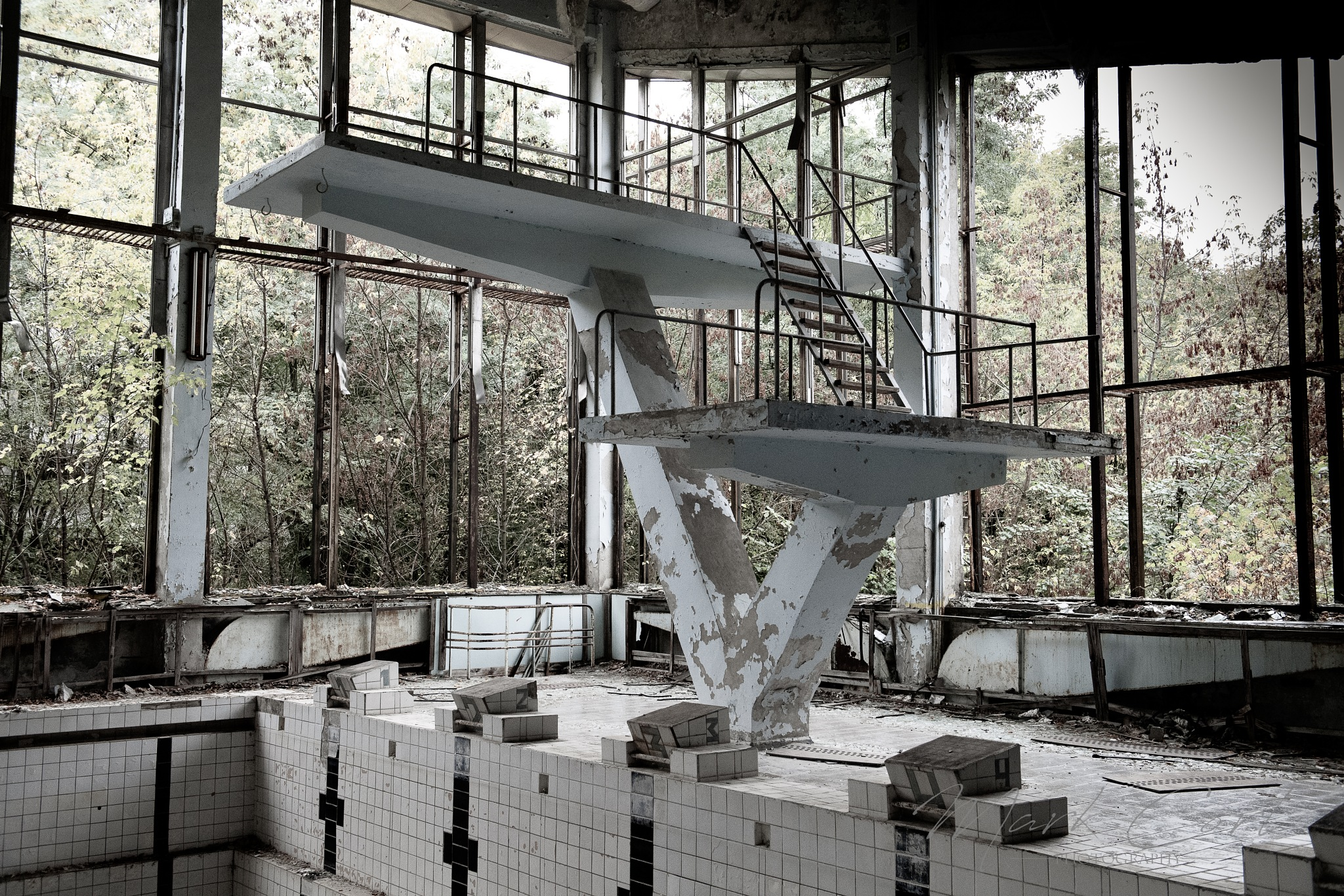 Olympic Pool, Pripyat by Mark Cort
