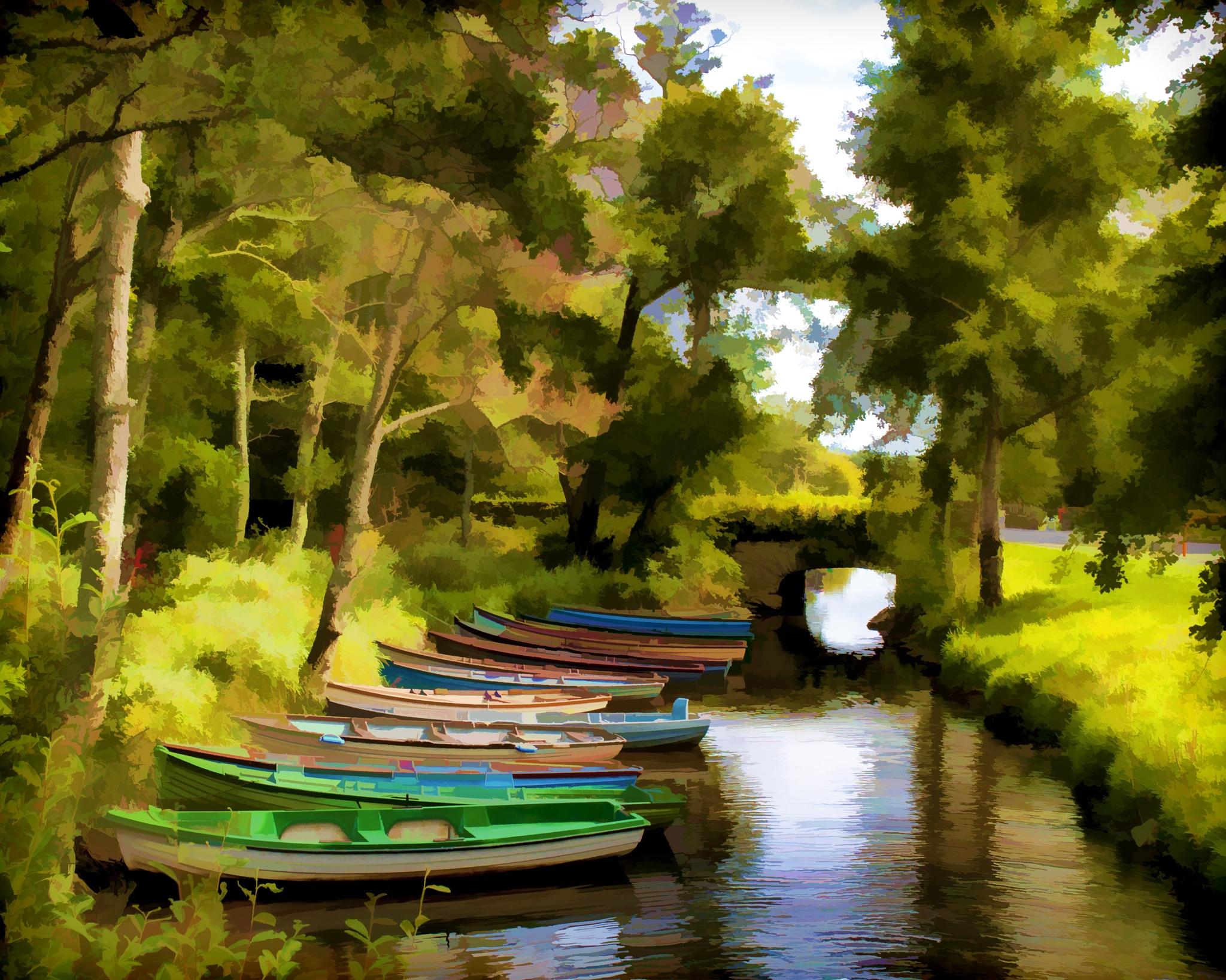 Boats by Ibolya Szebeni