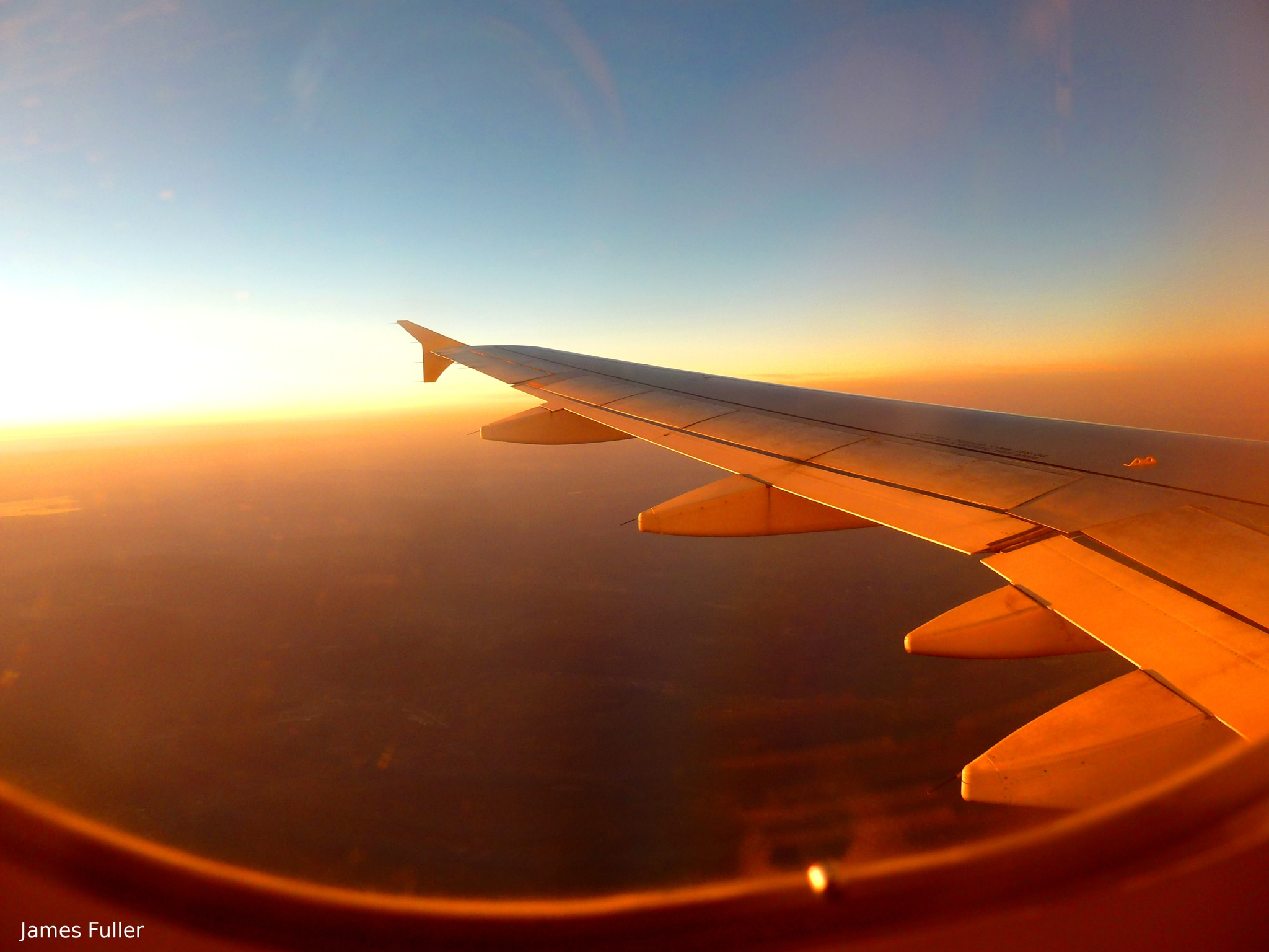 Good Evening from FL340 by James Fuller