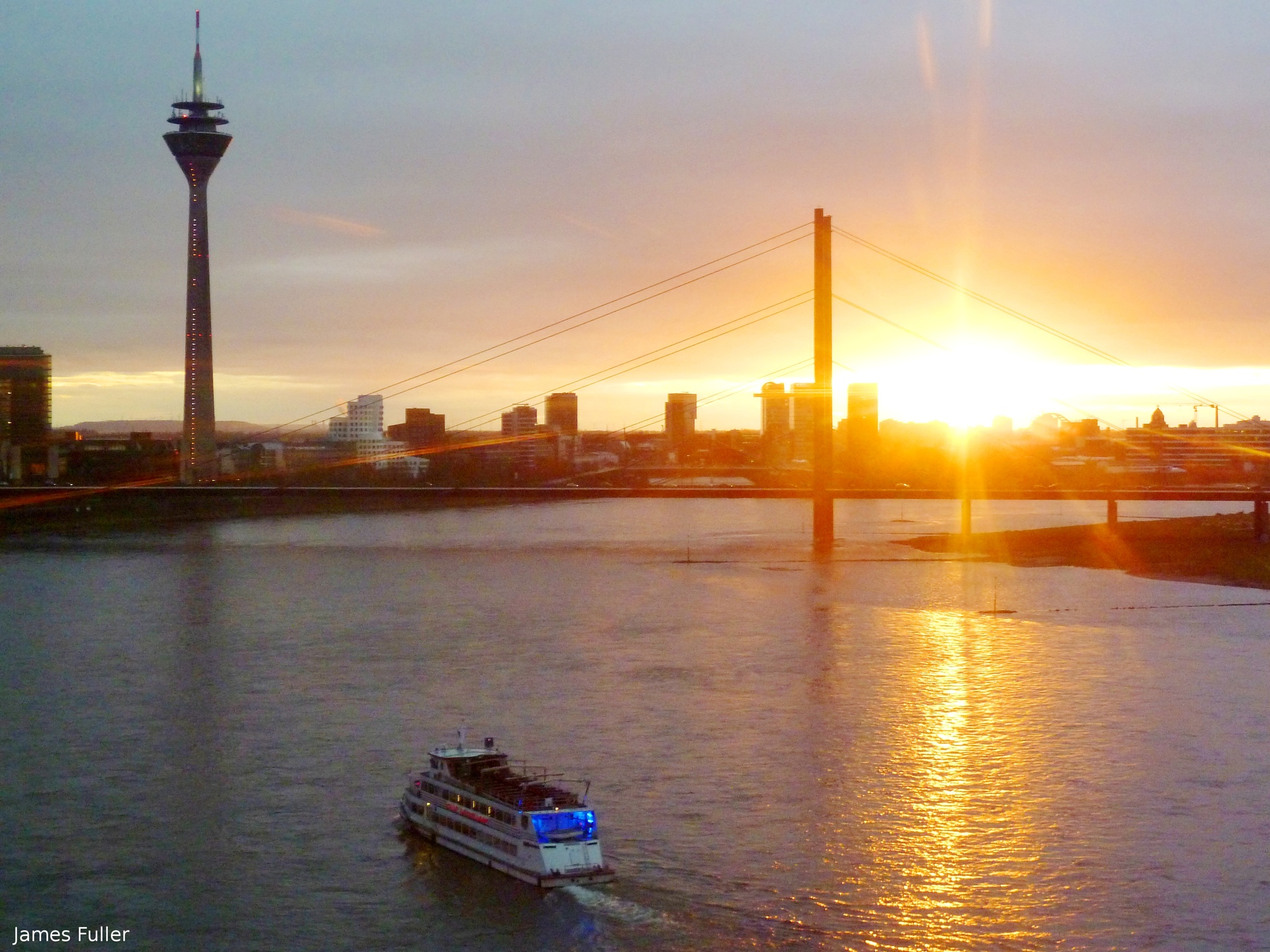 Dusseldorf Sunset by James Fuller