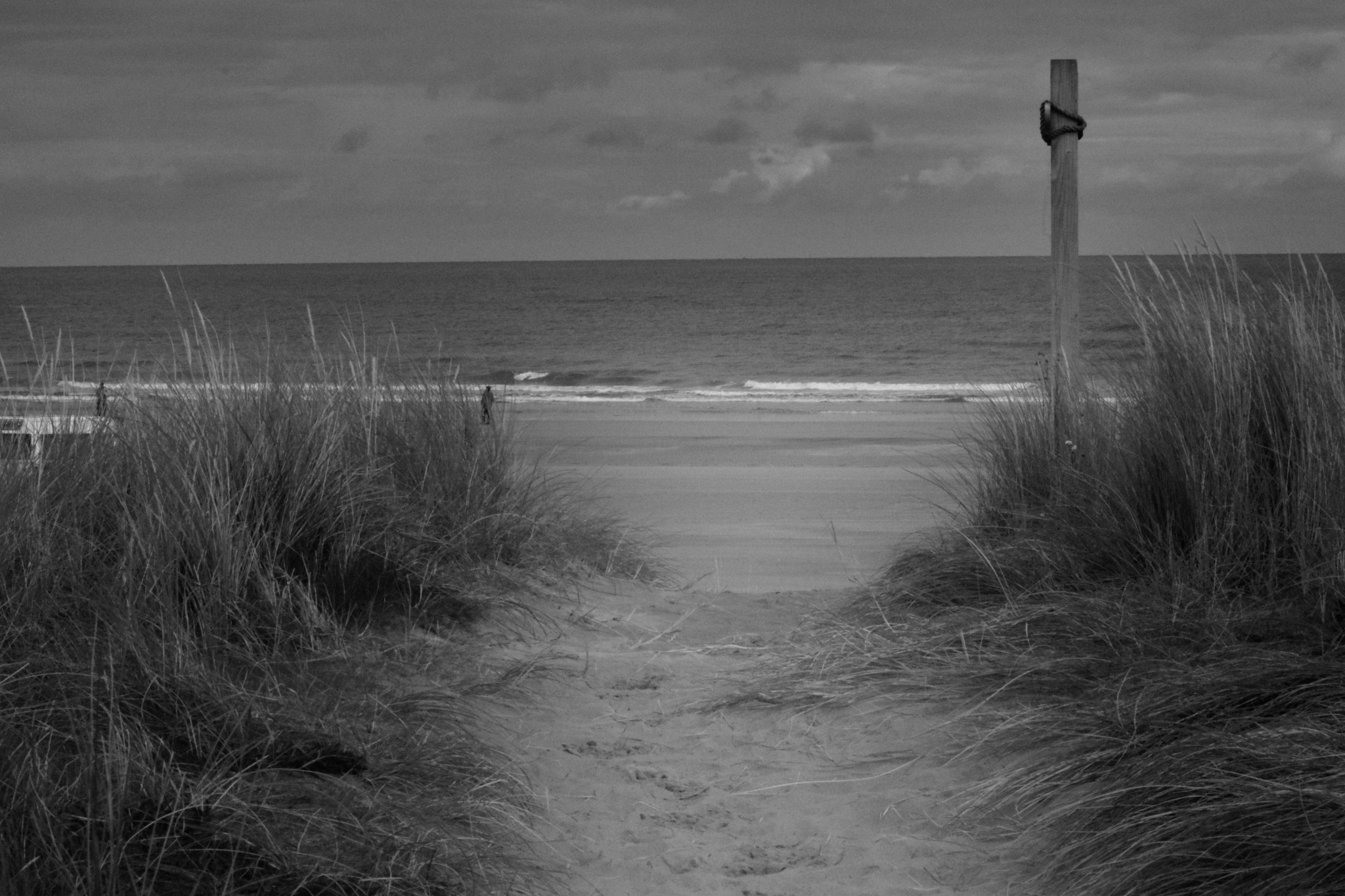 Beach in Black and White by Kenny Francis