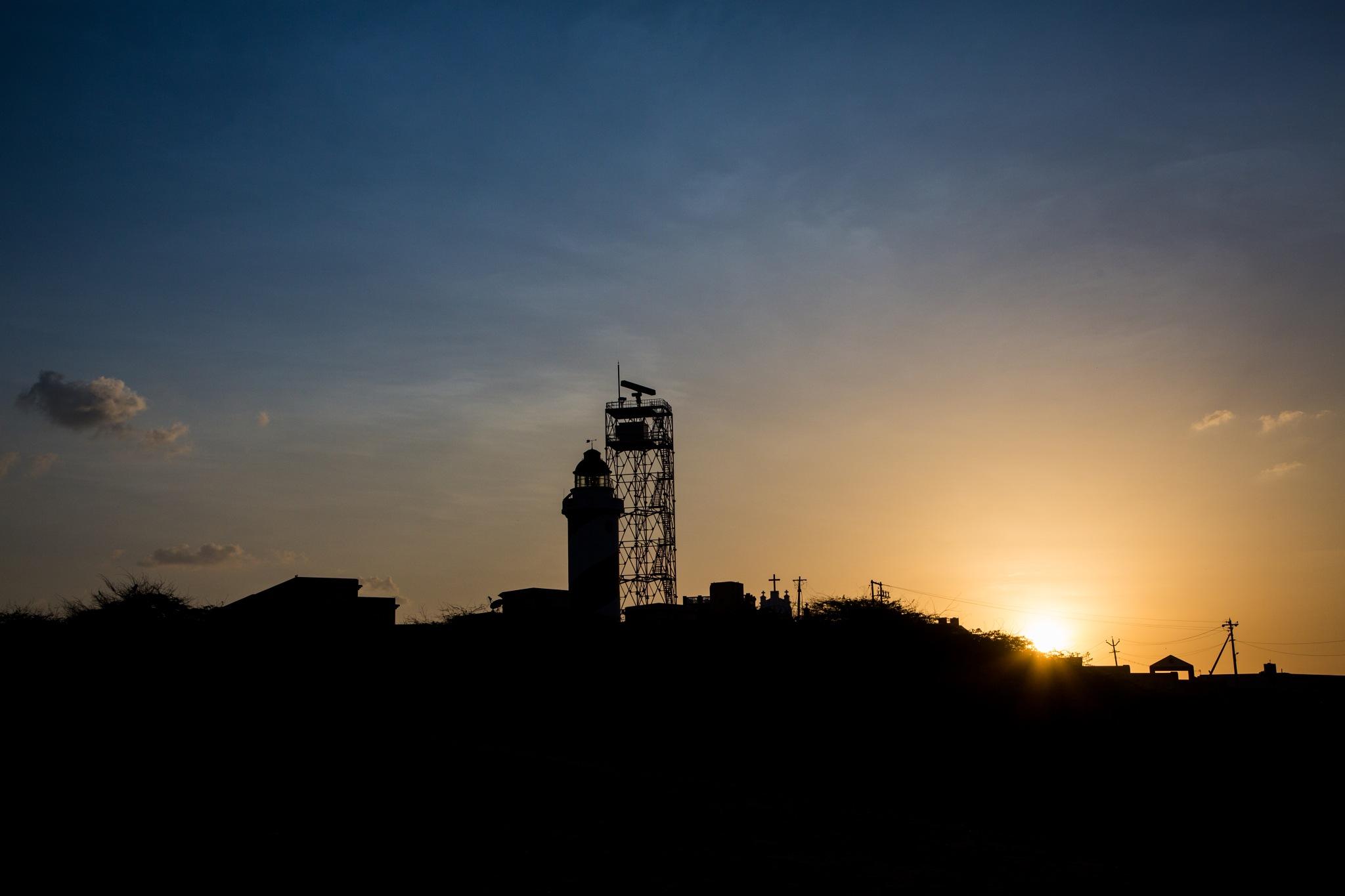 Light house - Sunset by karthikeyan chinnathamby
