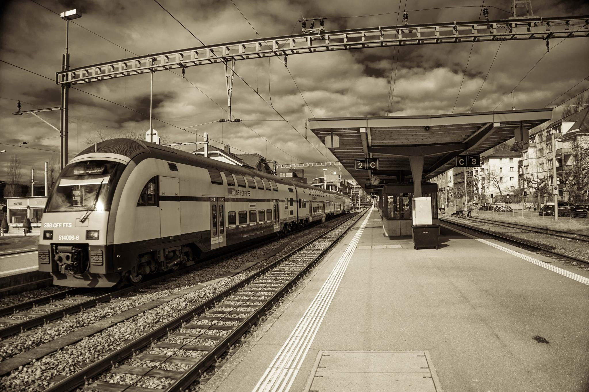 Bahnhof Tiefenbrunnen by Hansjuerg Buehler