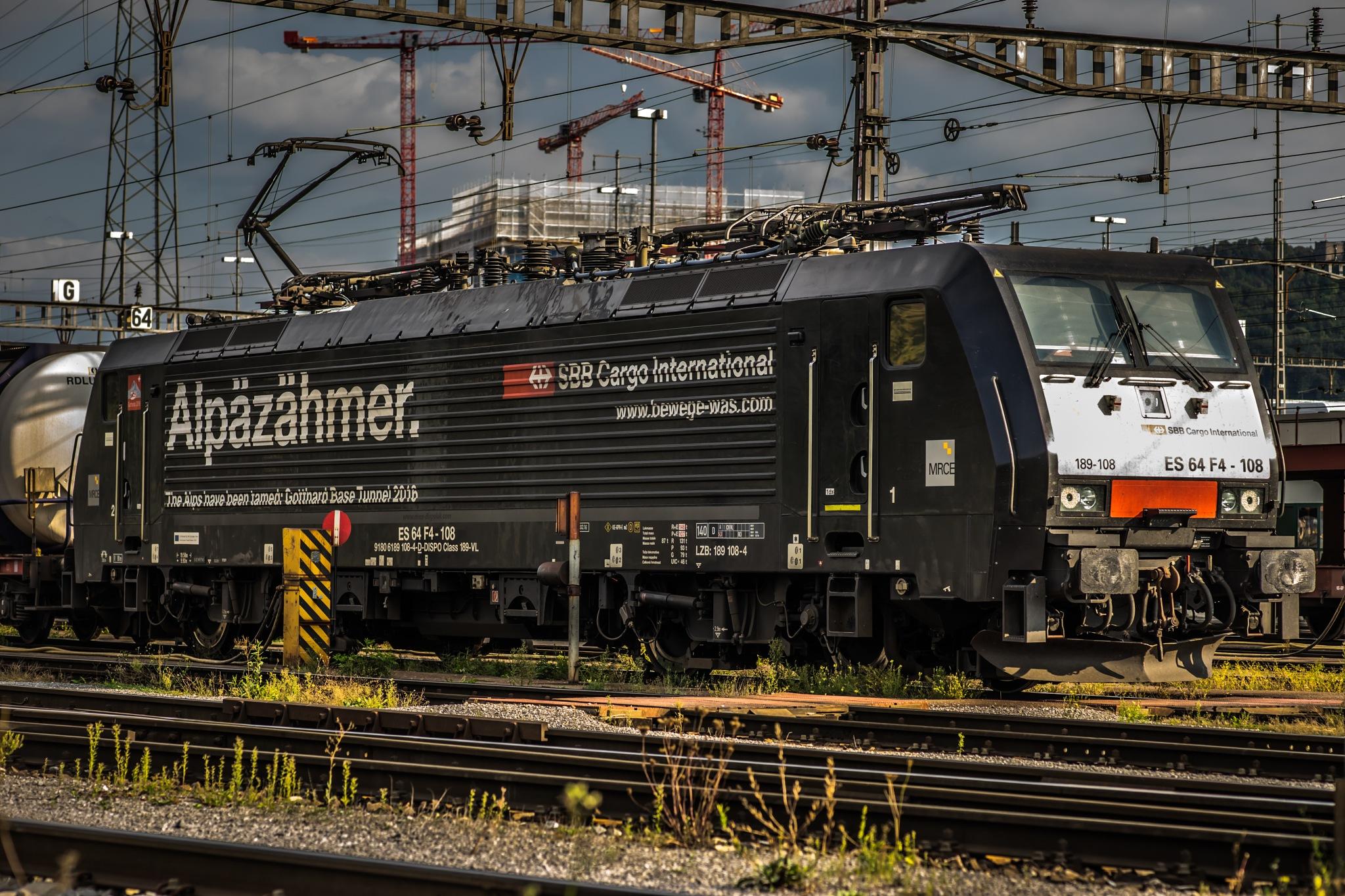 Auf dem Güterbahnhof by Hansjuerg Buehler