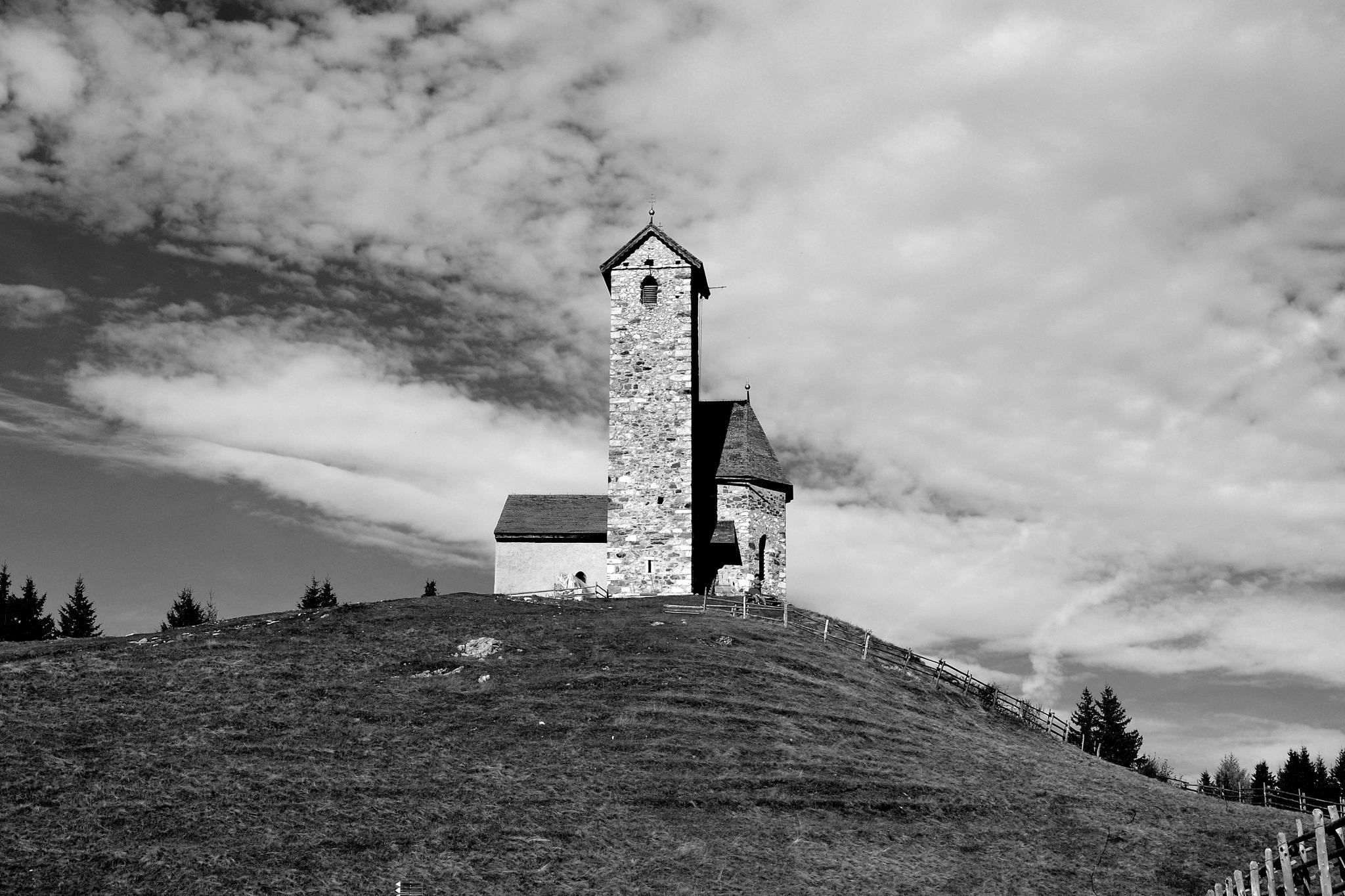 The little church on Vigiljoch / Giogo di San Vigilio, South Tyrol by echumachenco