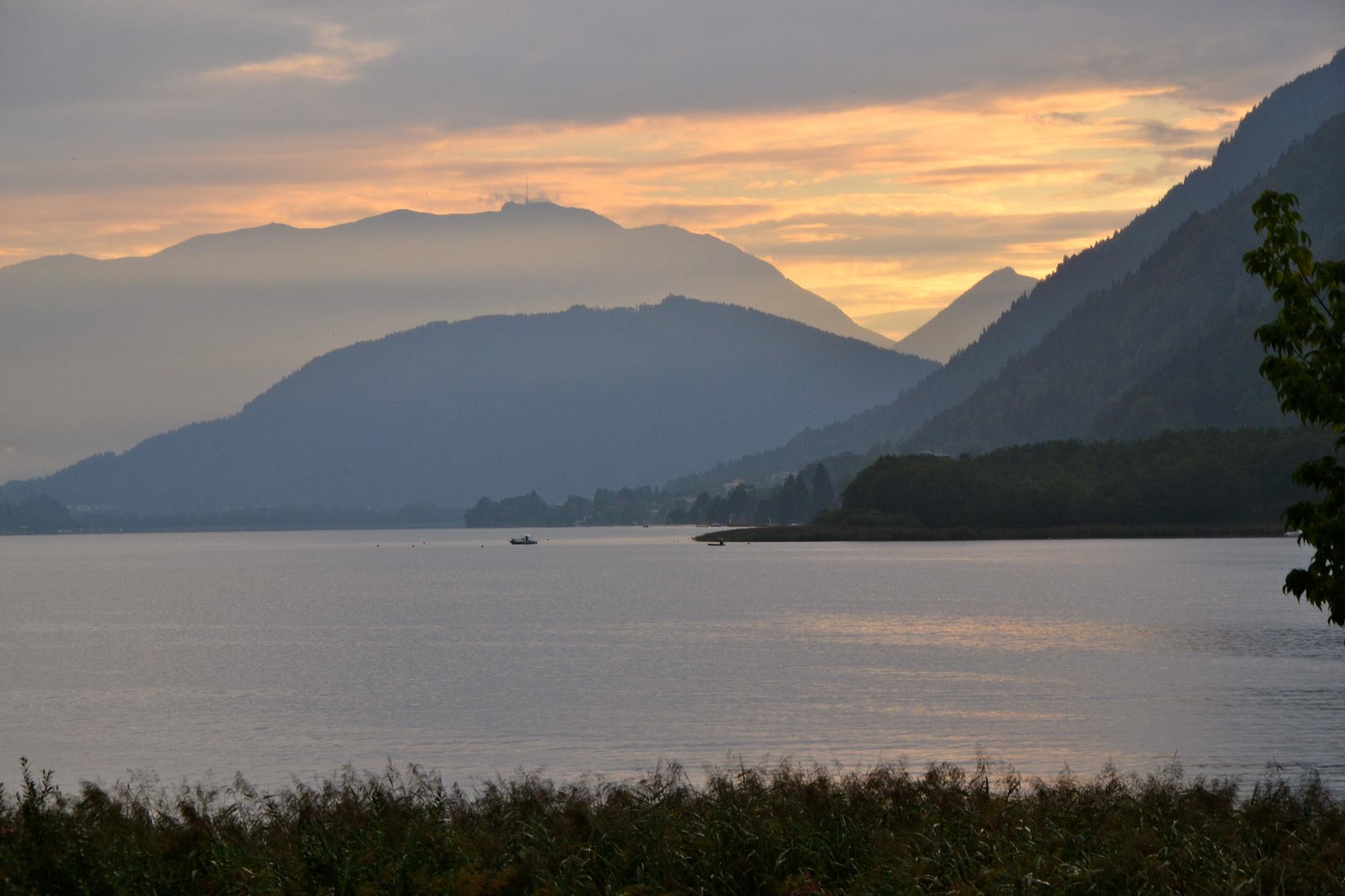 Evening on the Ossiach lake in Carinthia, Austria by echumachenco