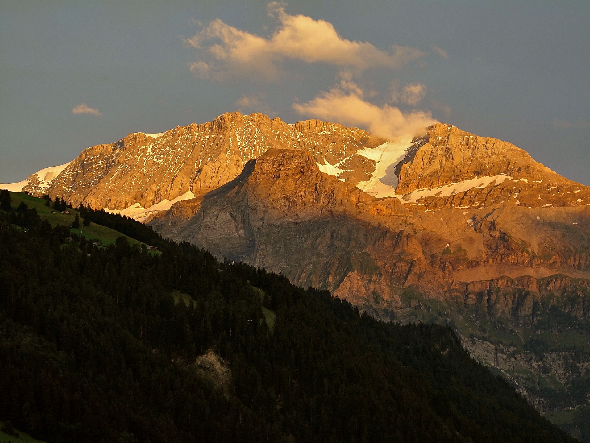 The Wildstrubel (3243 m) in sunset glow by echumachenco