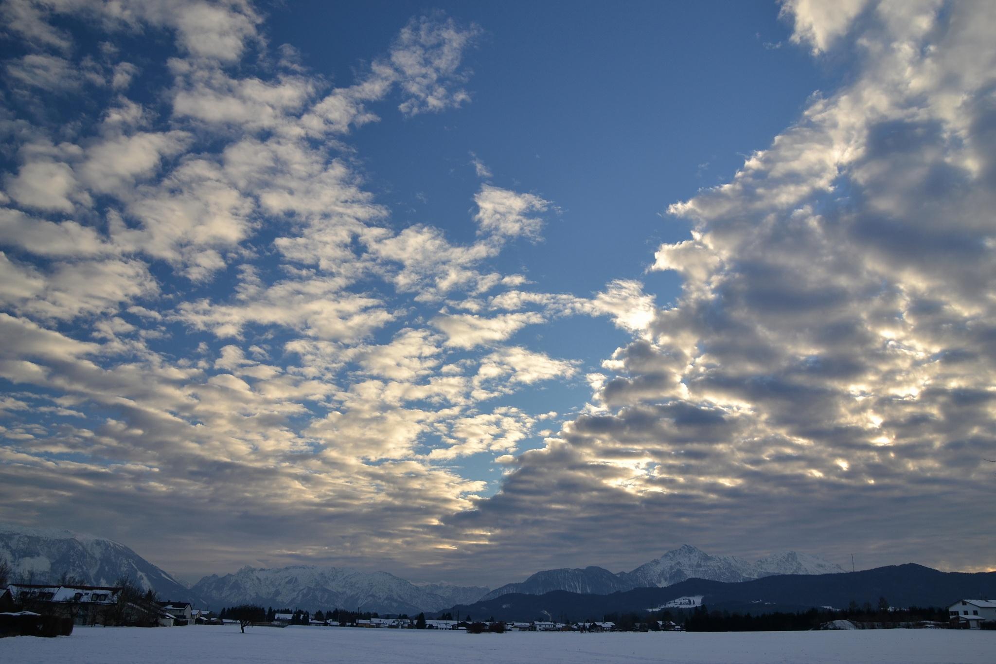 Winter sky above Upper Bavaria by echumachenco
