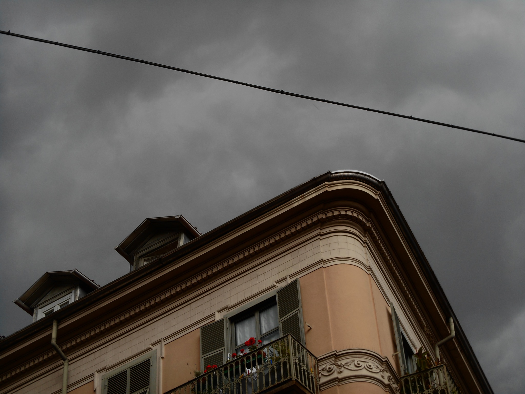 About to rain on this corner of Torino by clairettegardner